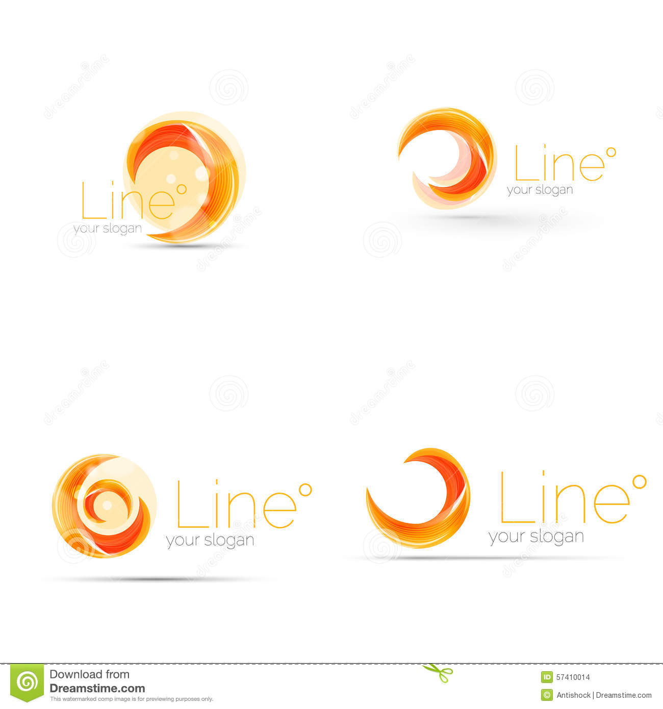 Swirl company logo design stock vector. Illustration of curve - 57410014