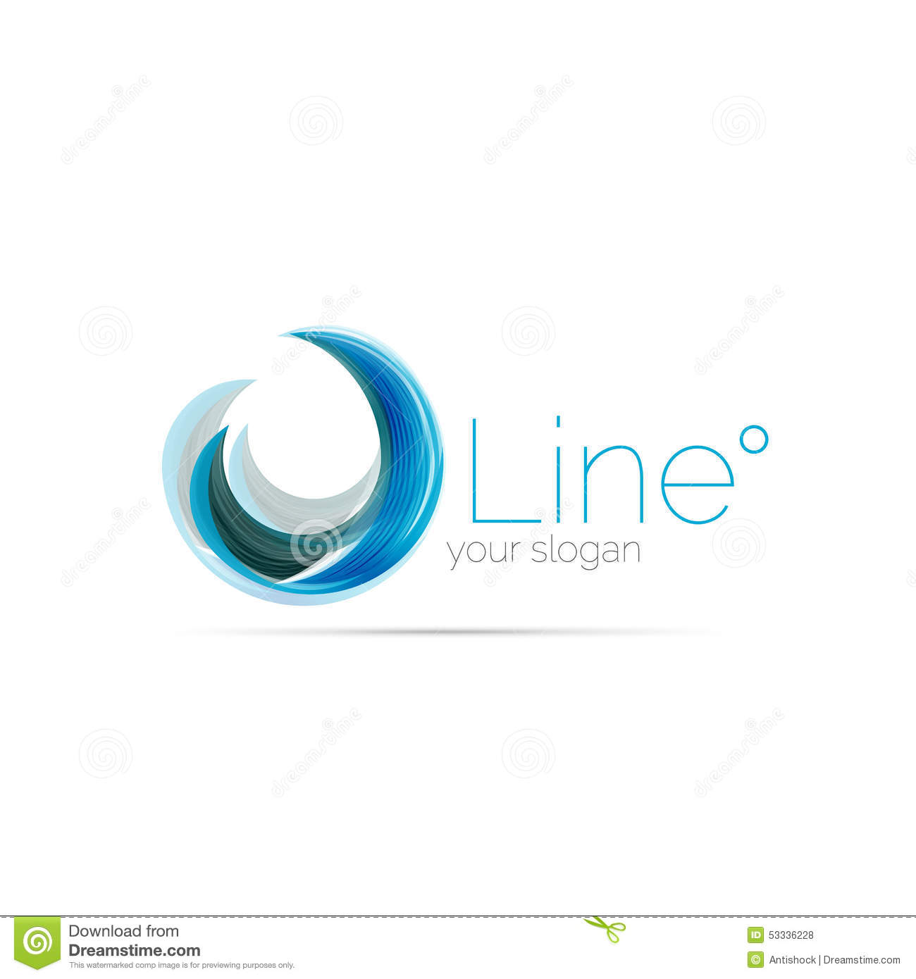 Swirl company logo design stock vector image 53336228 Business logo design company