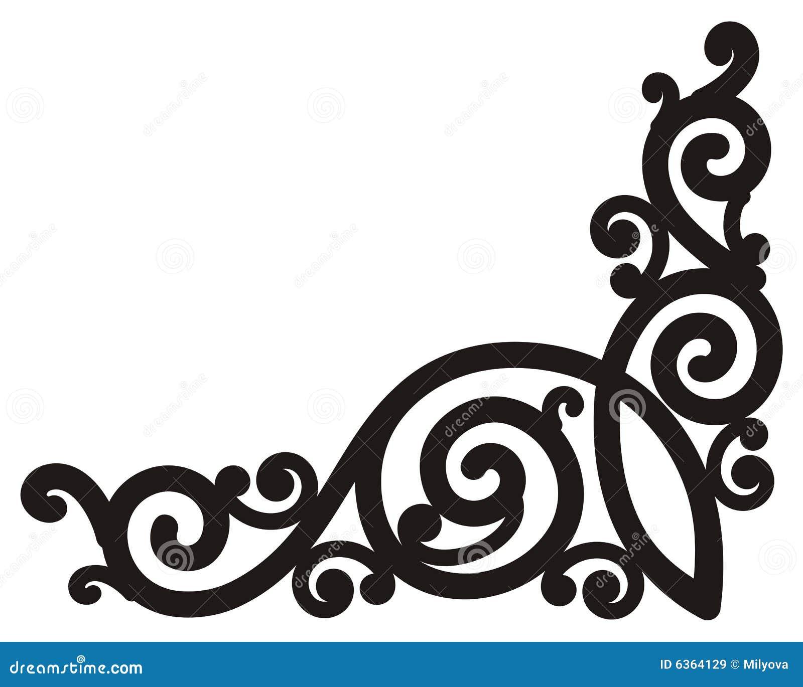 swirl corner stock vector illustration of black elegant 6364129 rh dreamstime com