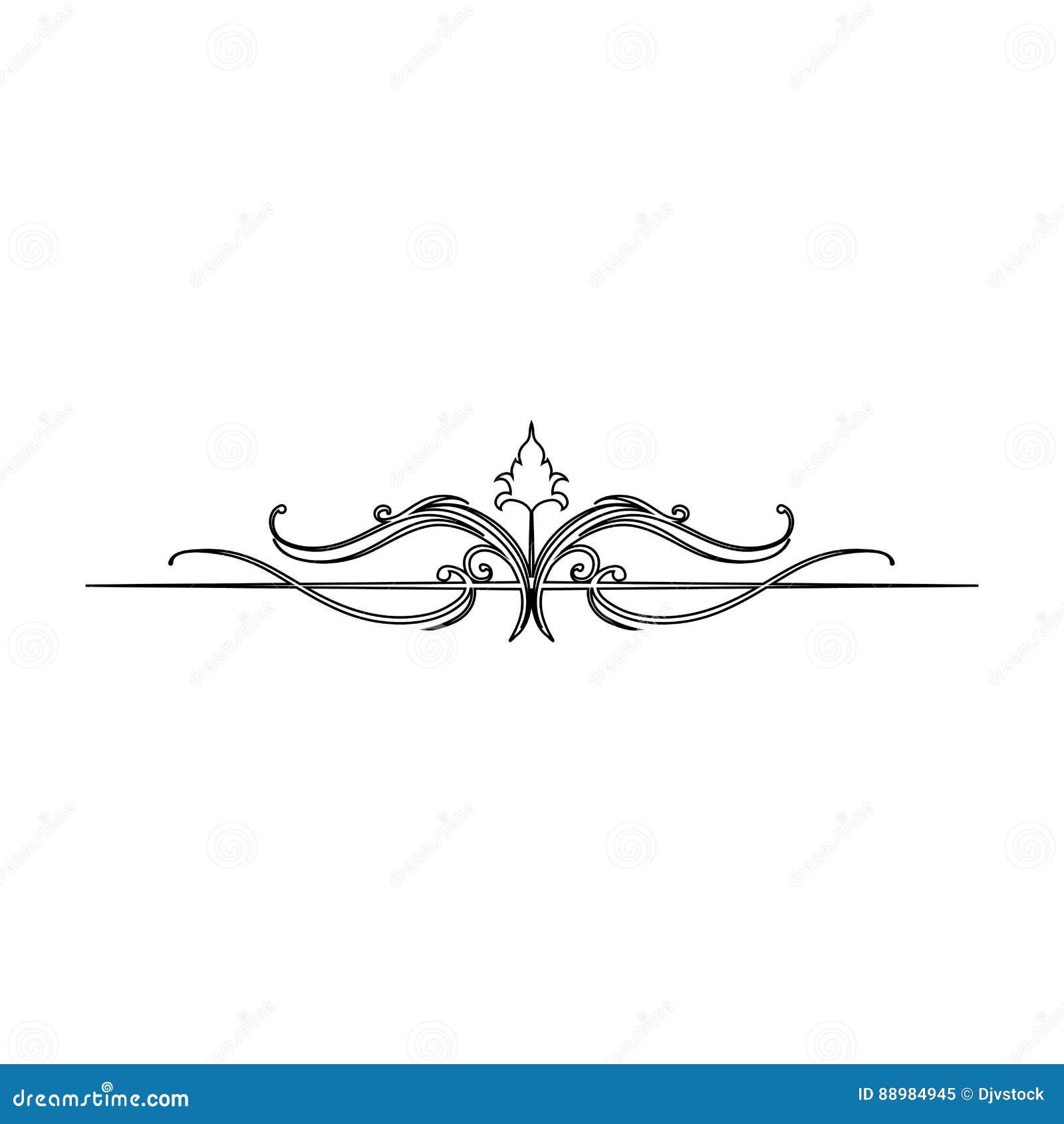 swirl decorative lines stock illustration illustration of graphic
