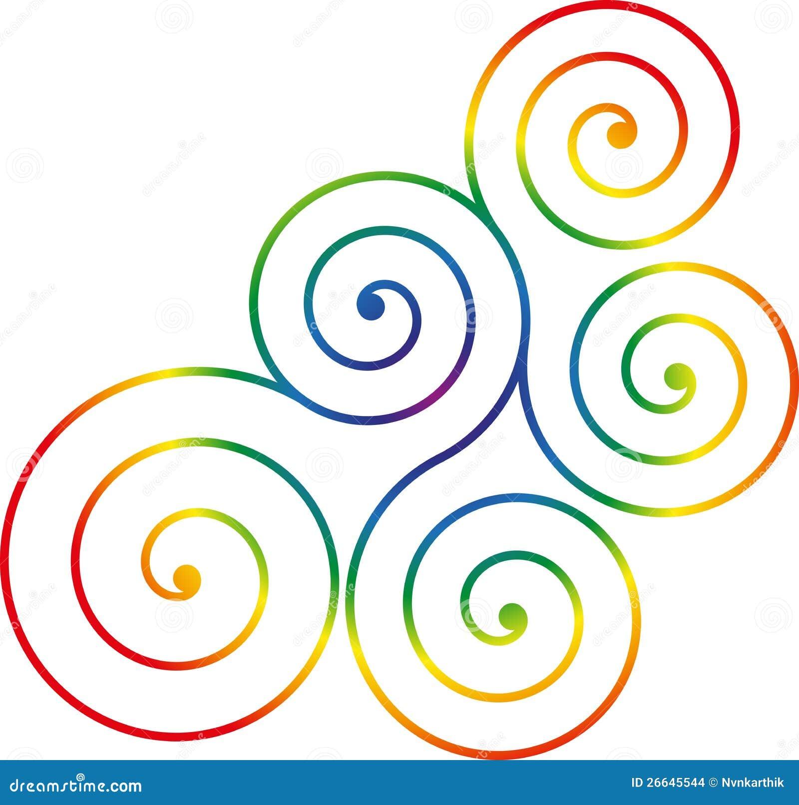 Color Line Design : Swirl design stock vector illustration of carving curls