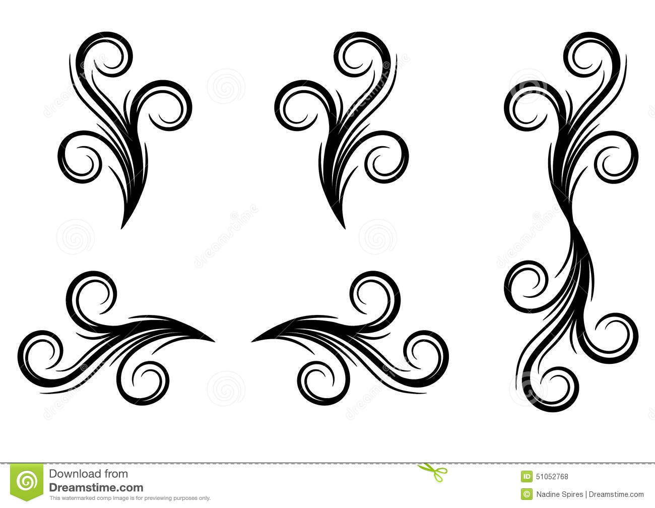 Swirl designs stock illustration image of illustration for Decoration drawing