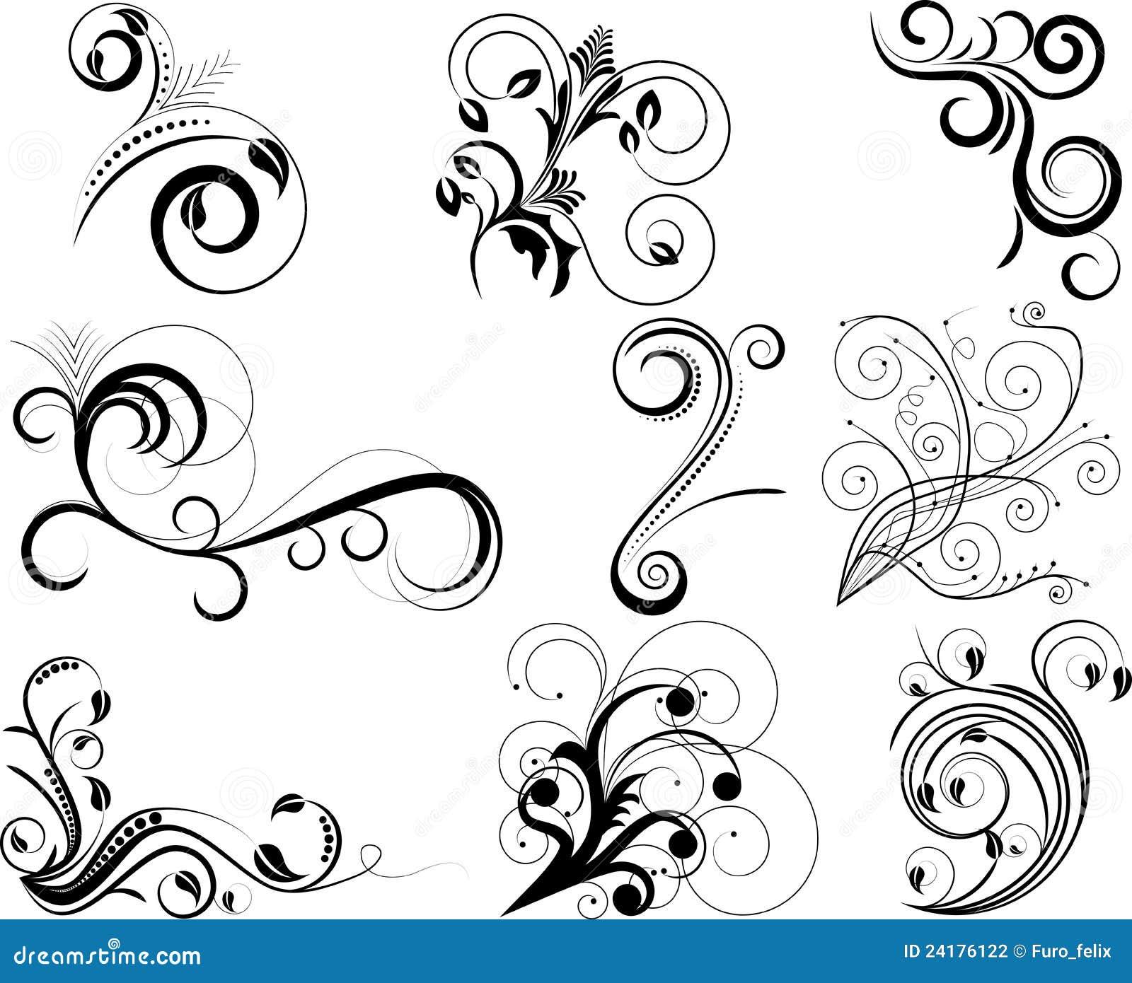 Swirl Elements Stock Photography Image 24176122