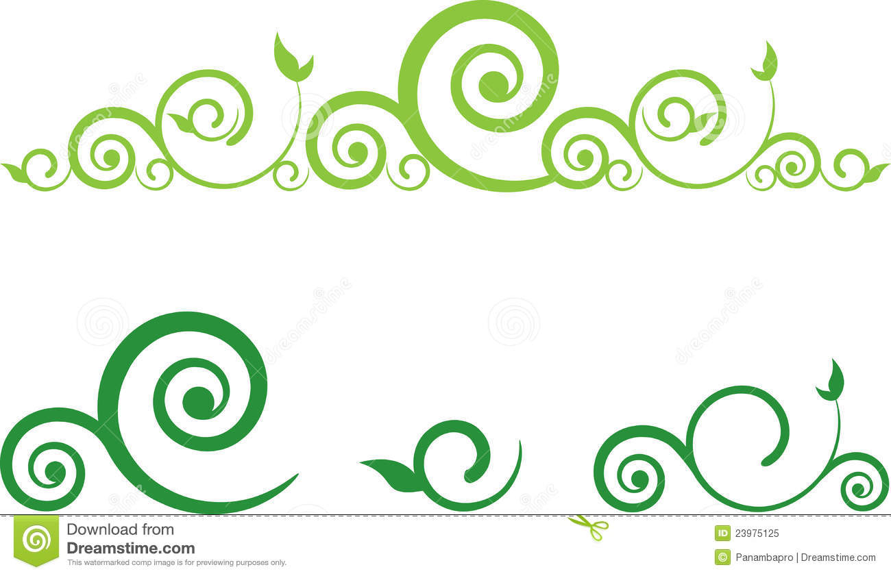 Swirl Floral Border Royalty Free Stock Photo - Image: 23975125