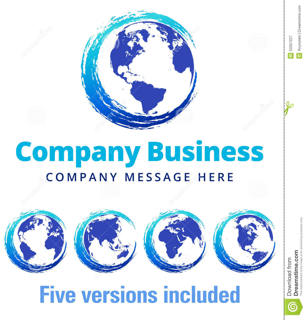 Swirl global company business logo symbol stock vector for Global design company