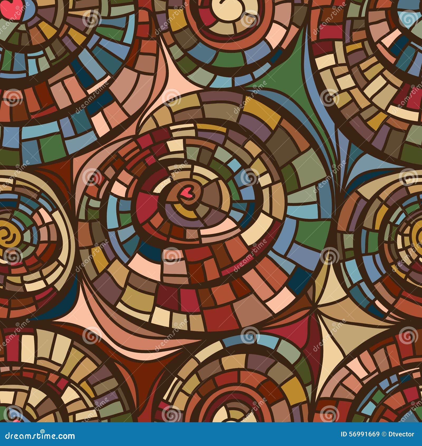 Swirl line drawing seamless pattern