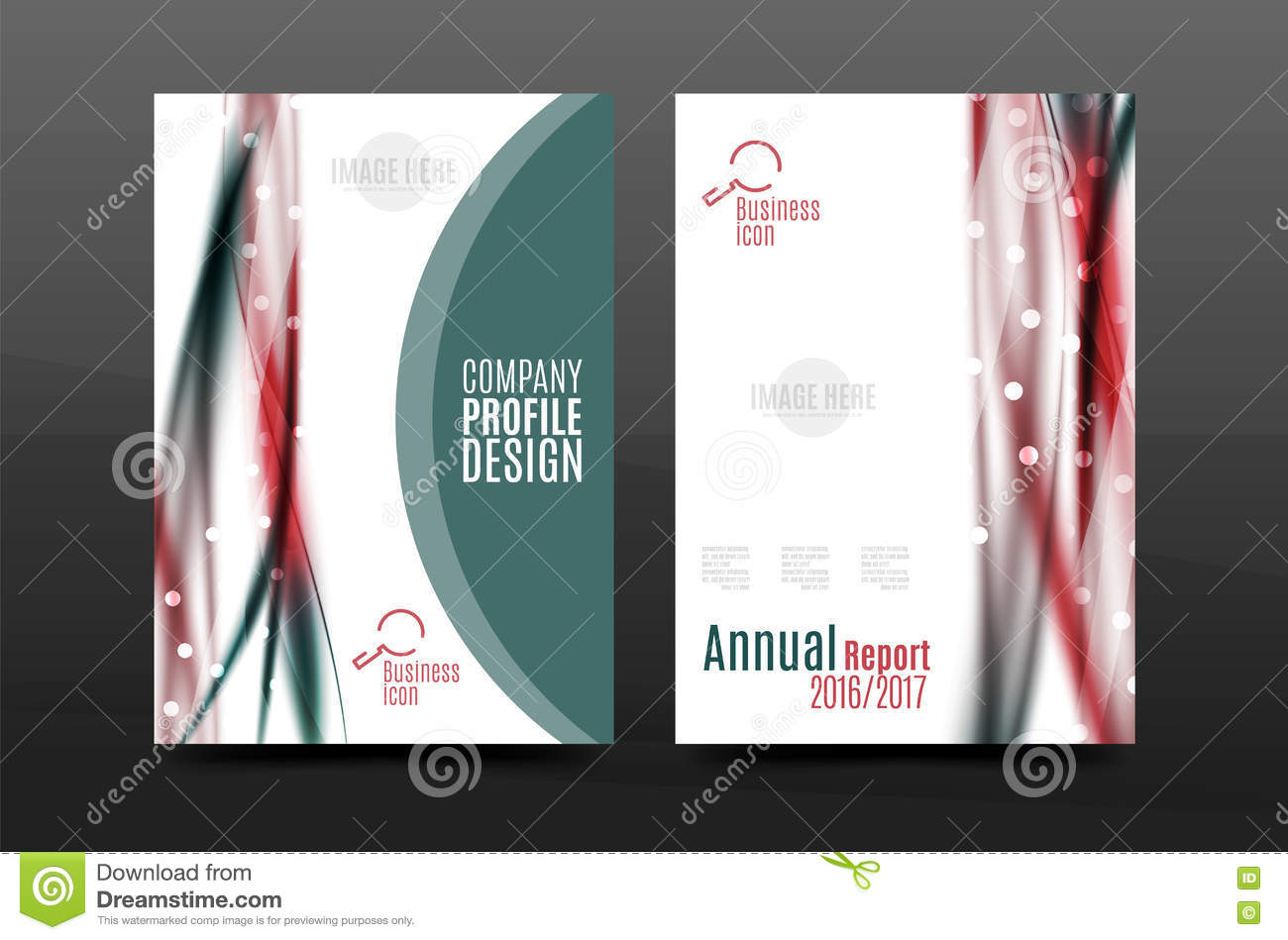 swirl wave annual report for business correspondence letter flyer design