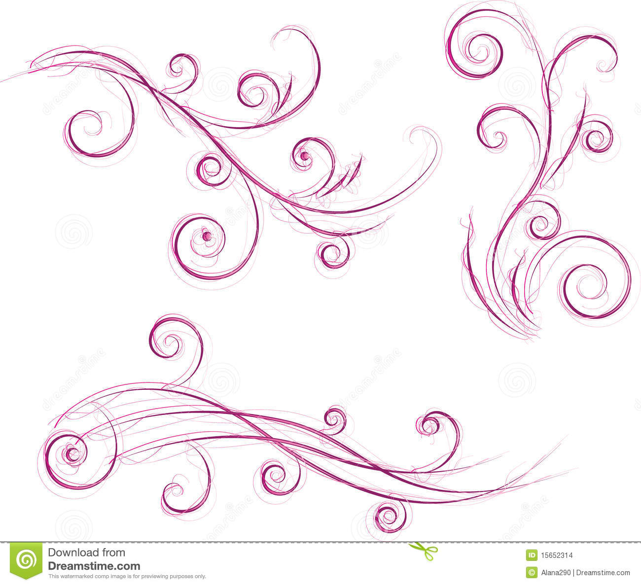 Swirls Floral Designs Stock Images Image 15652314