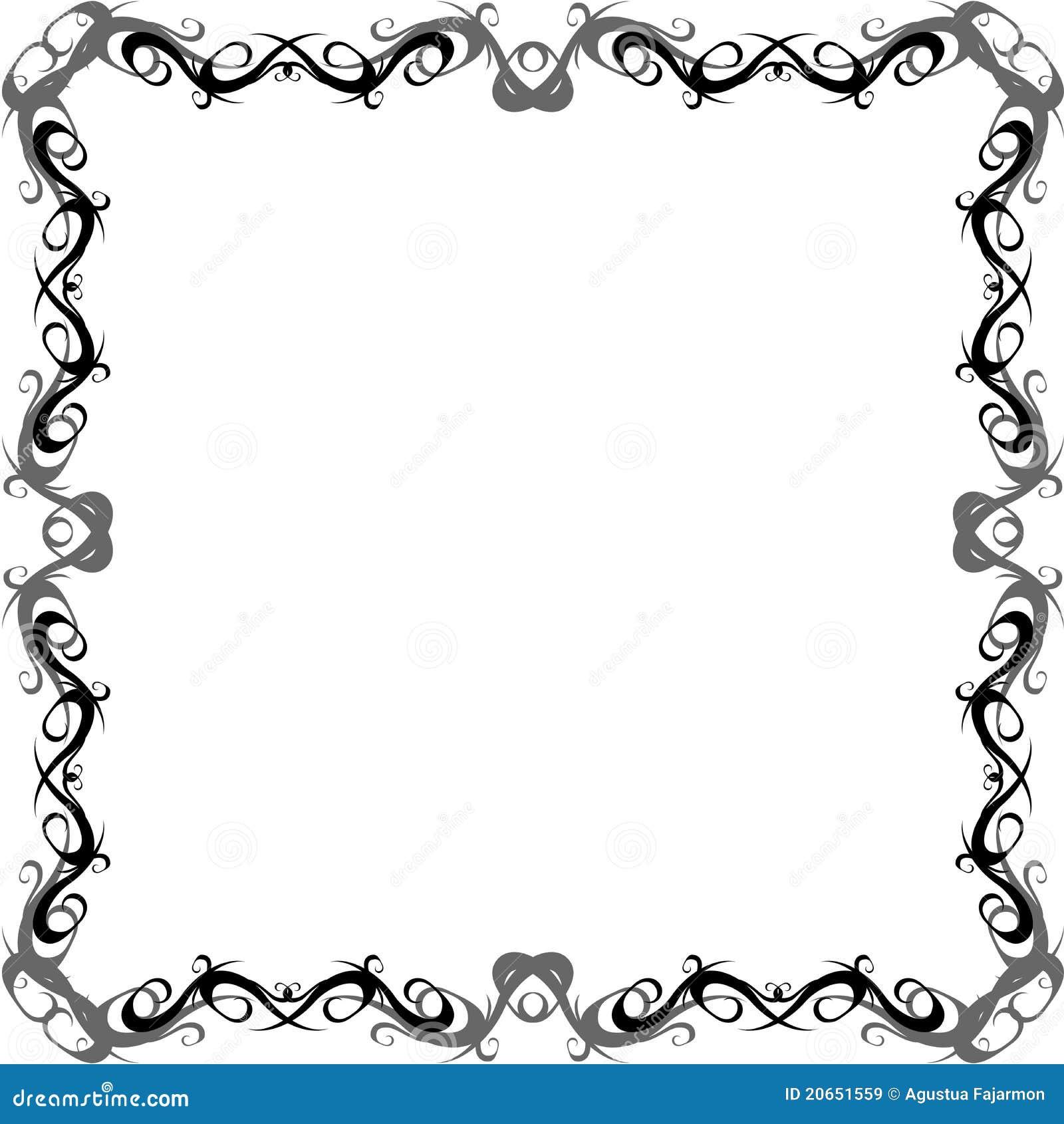 Swirly border royalty free stock images image 20651559 1300x1390