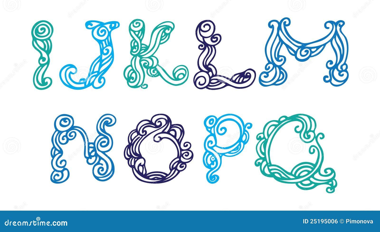 swirly hand drawn font royalty free stock image image