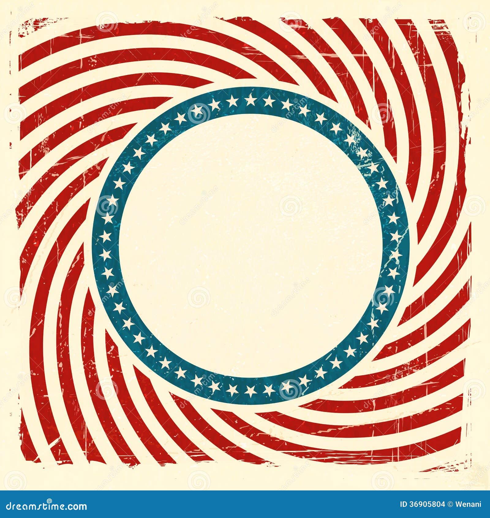 Swirly Stripes And Stars USA Grunge Background Stock ...
