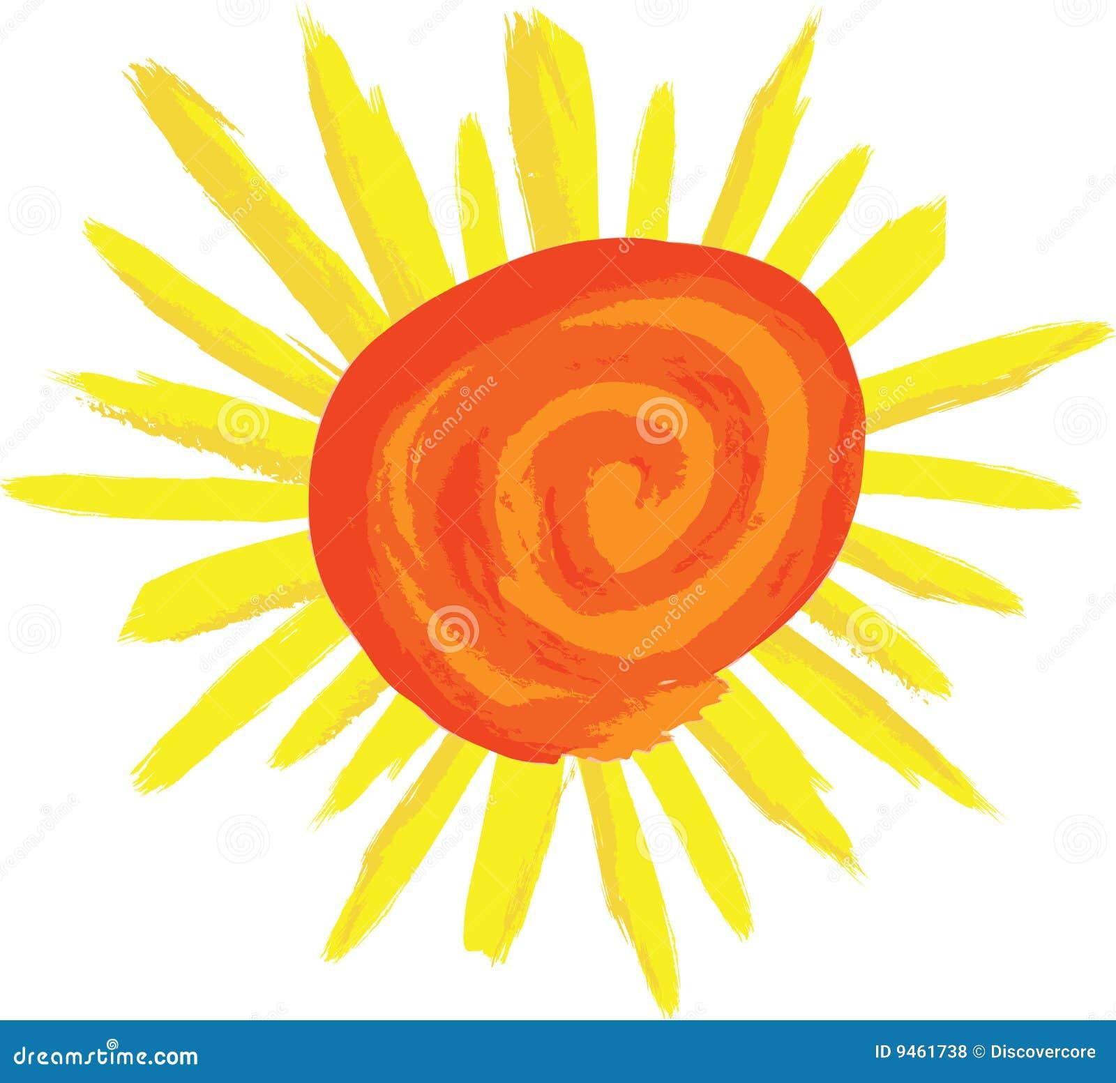 Swirly Sunshine Stock Vector Illustration Of Suntan Night 9461738