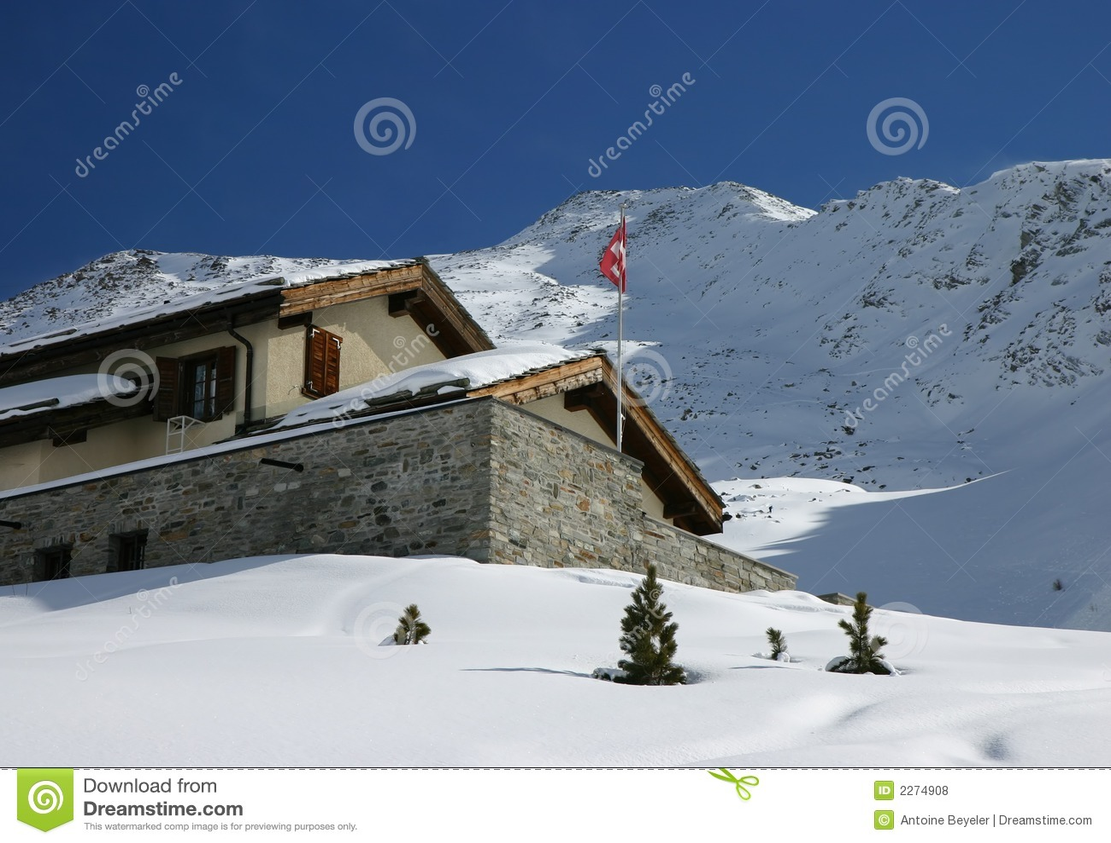 Swiss alpine cabin