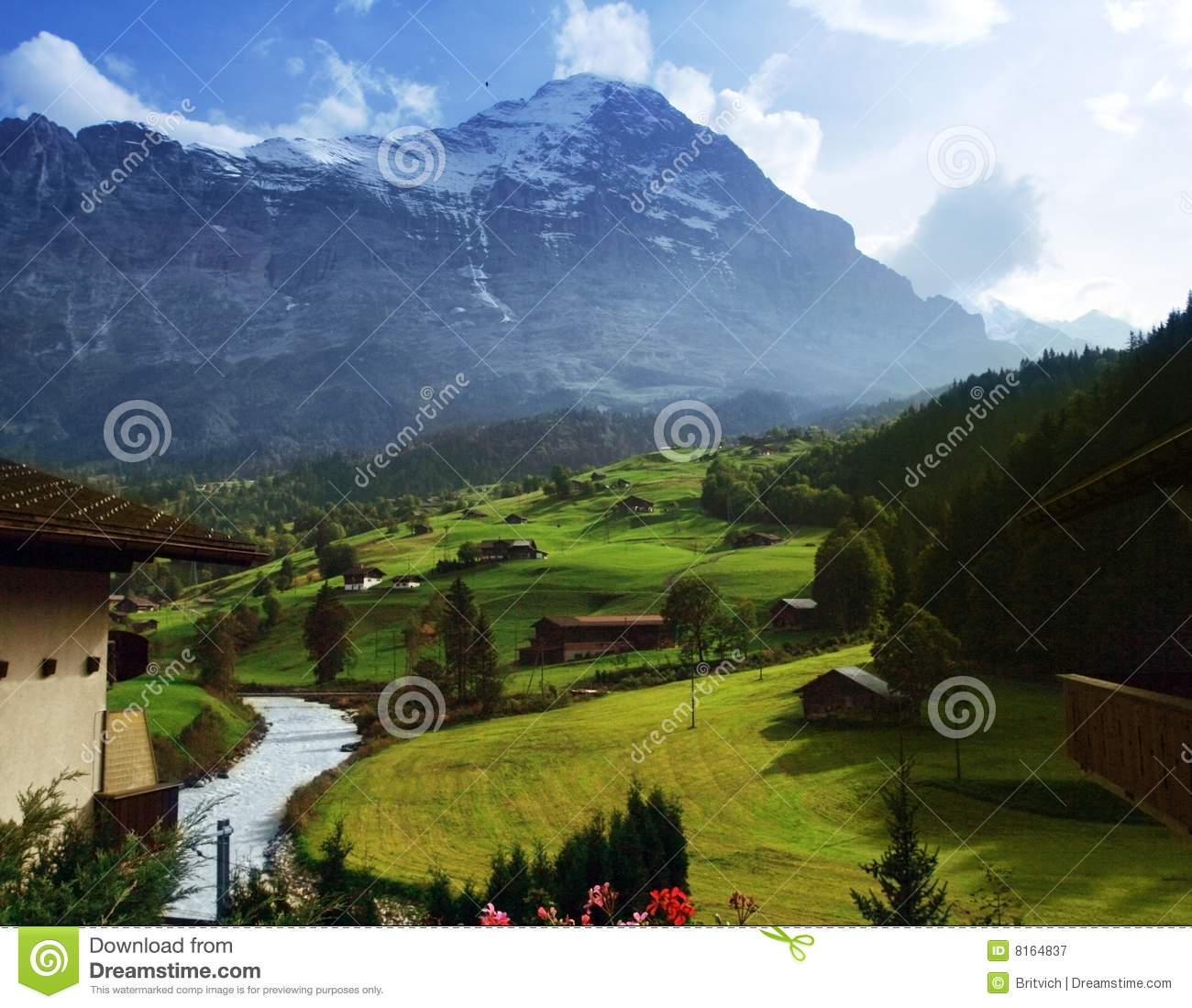 Swiss Alps In Spring Time Royalty Free Stock Photography