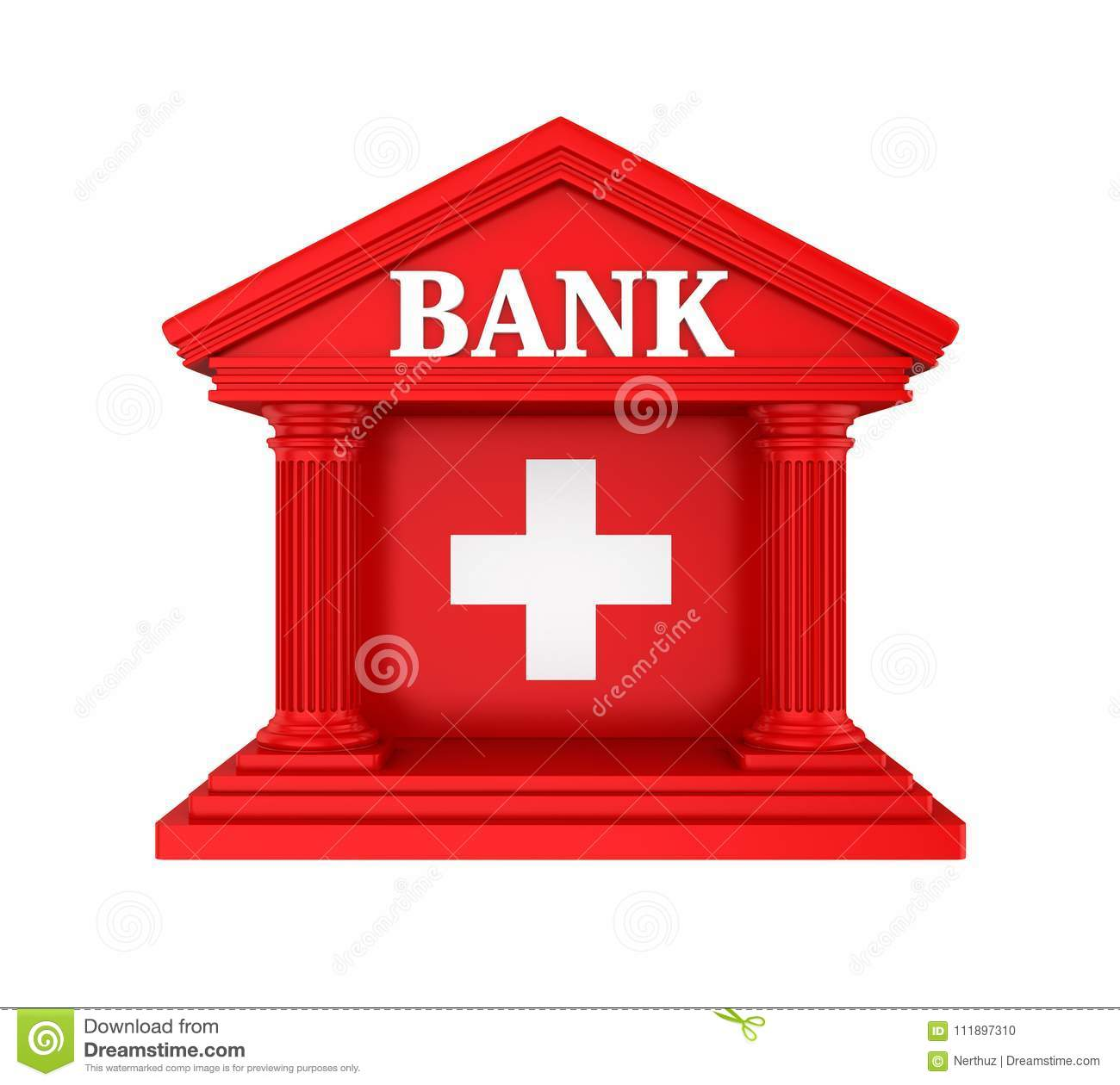 Swiss bank building isolated stock photo image of capital swiss bank building isolated buycottarizona Image collections