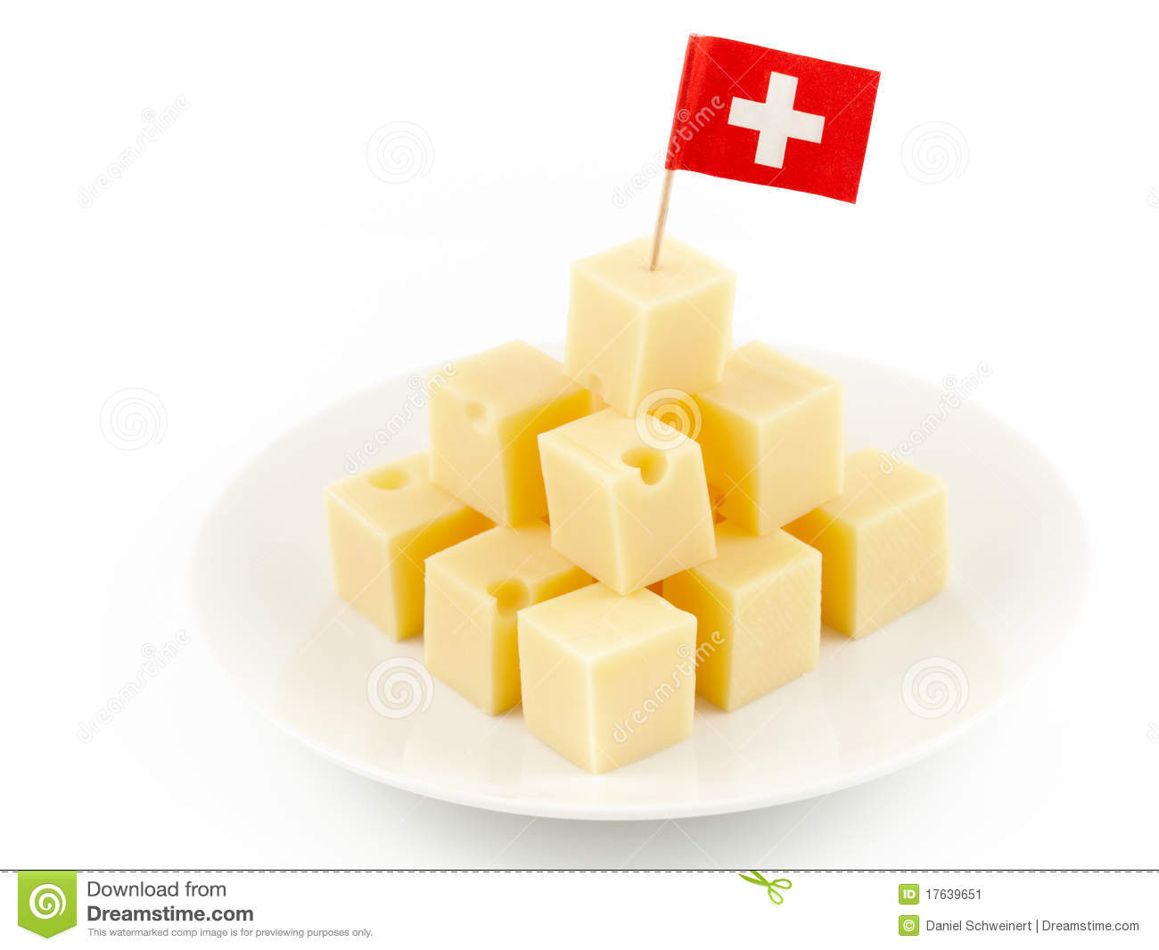 Swiss Cheese Cubes Stock Image - Image: 17639651