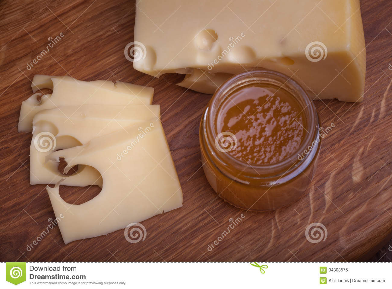 Download Swiss cheese with jam stock image. Image of conserve - 94308575