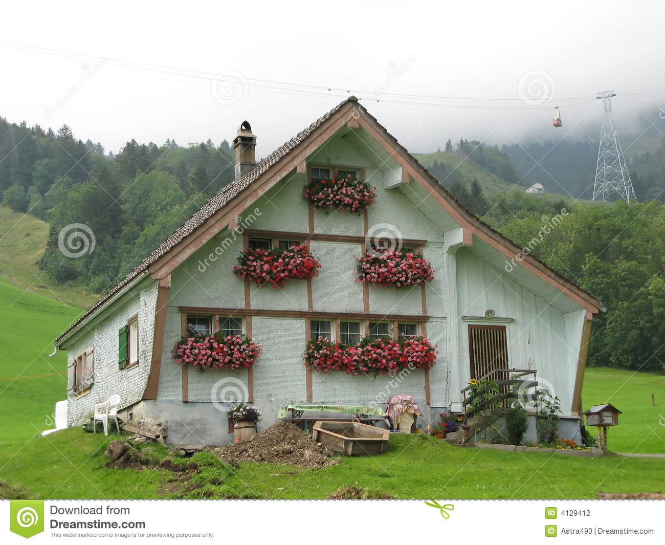 swiss farmers house stock photography image 4129412
