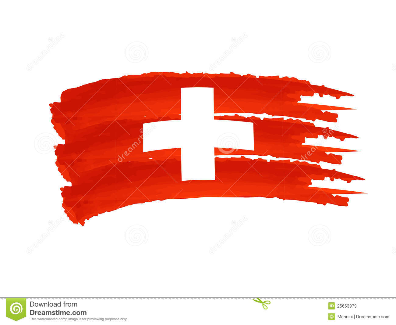 Swiss Flag Royalty Free Stock Images - Image: 25663979