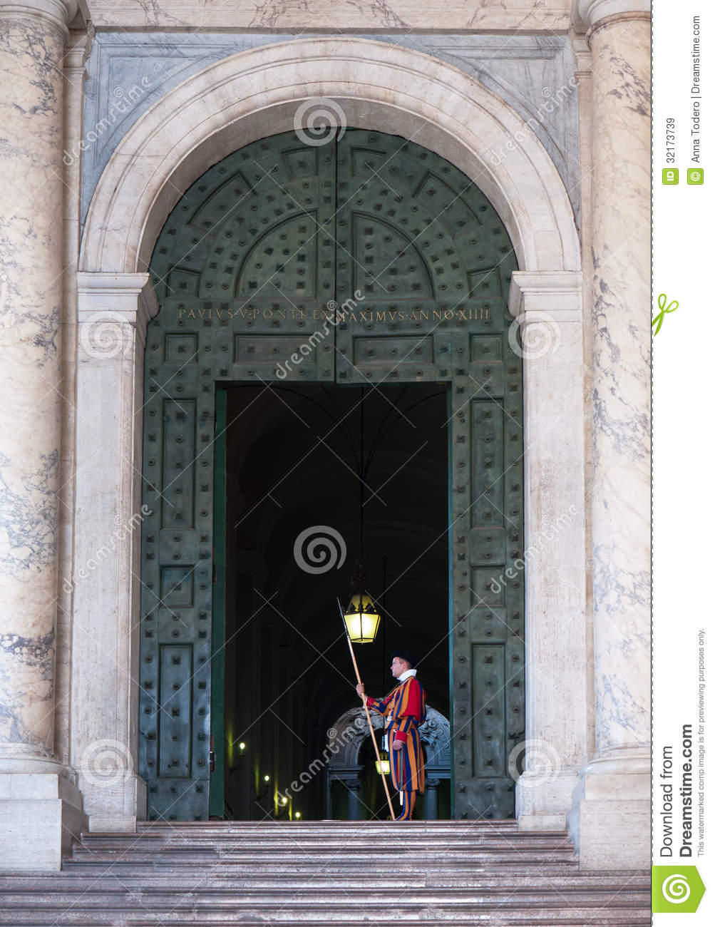 Swiss Guard In Vatican City Editorial Stock Image