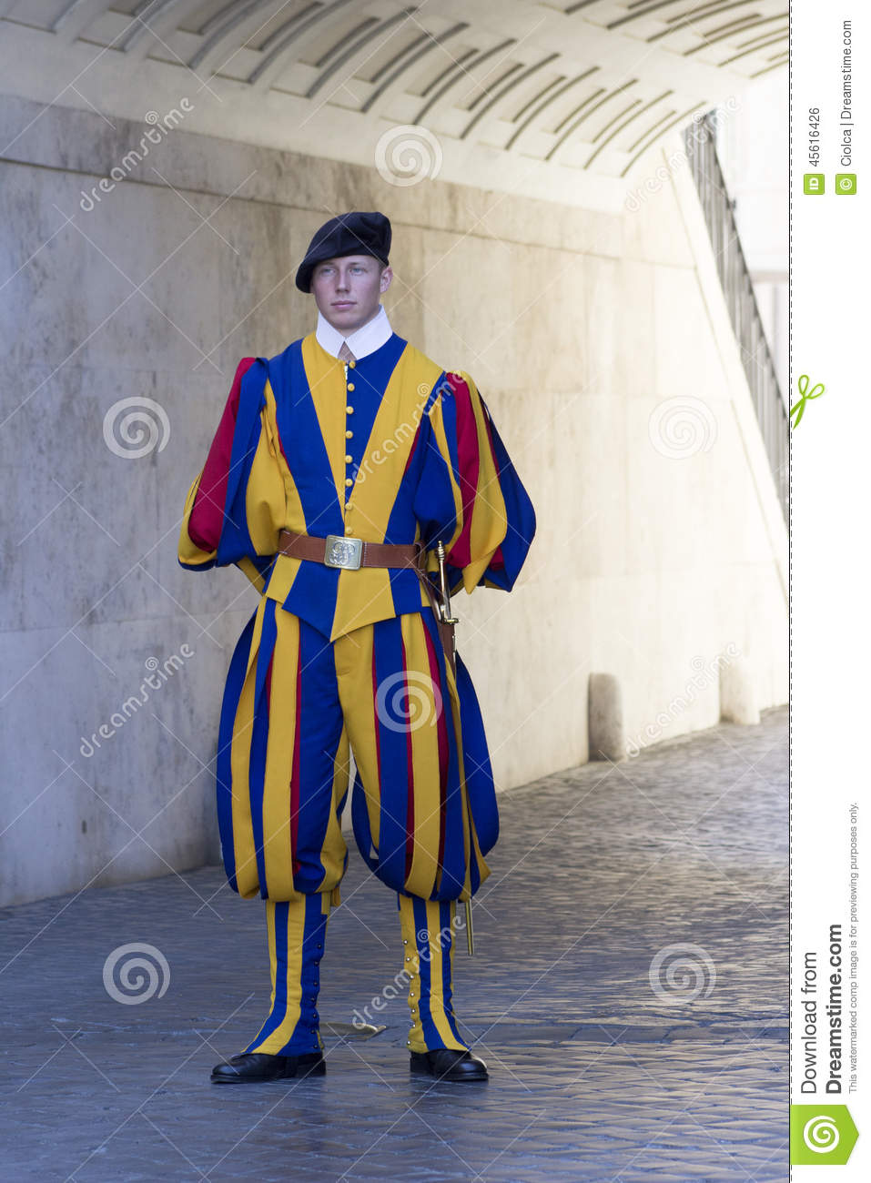 Swiss Guard Of Vatican City Editorial Photo