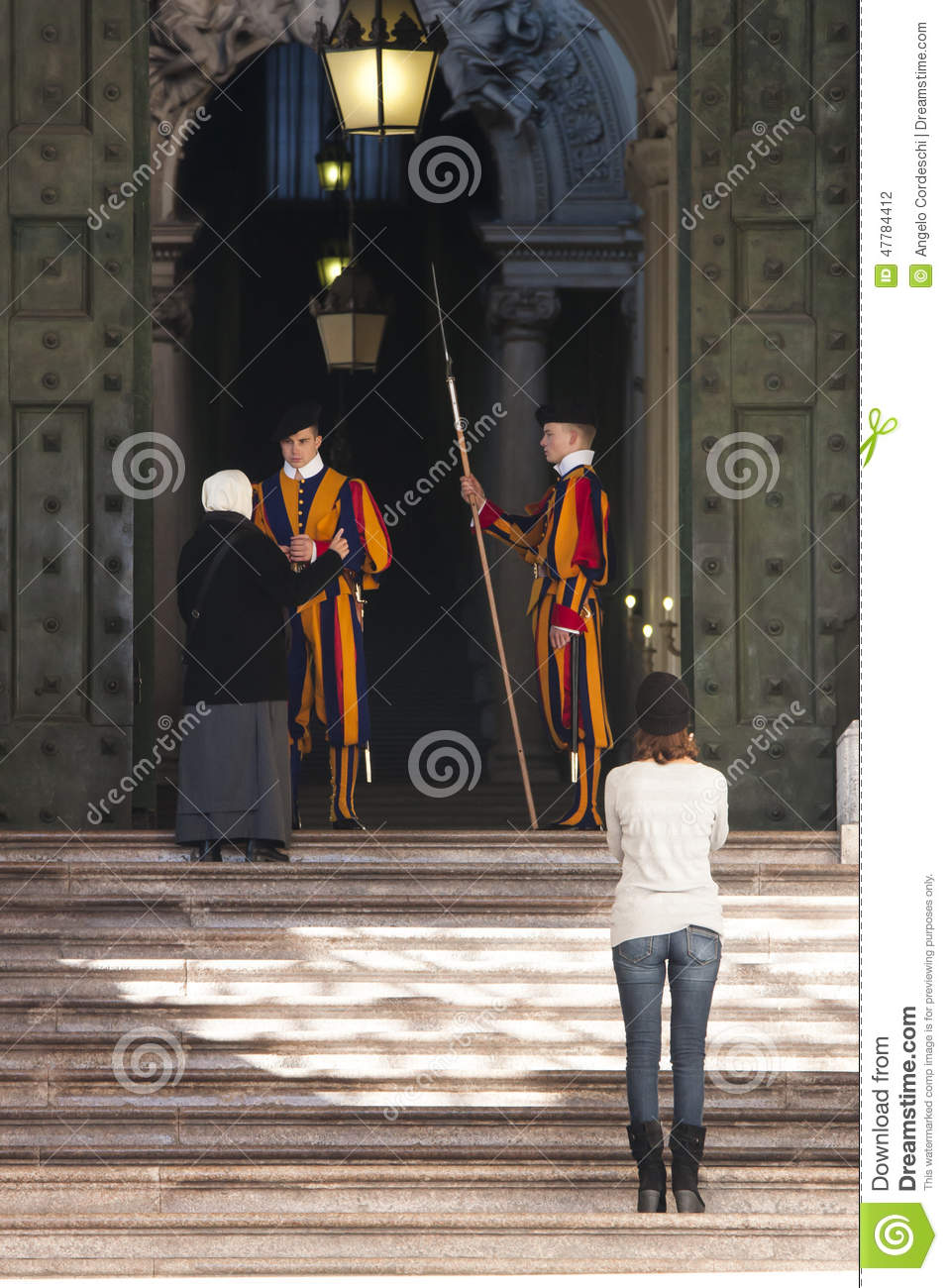 Swiss Guards Of Vatican City Editorial Photography