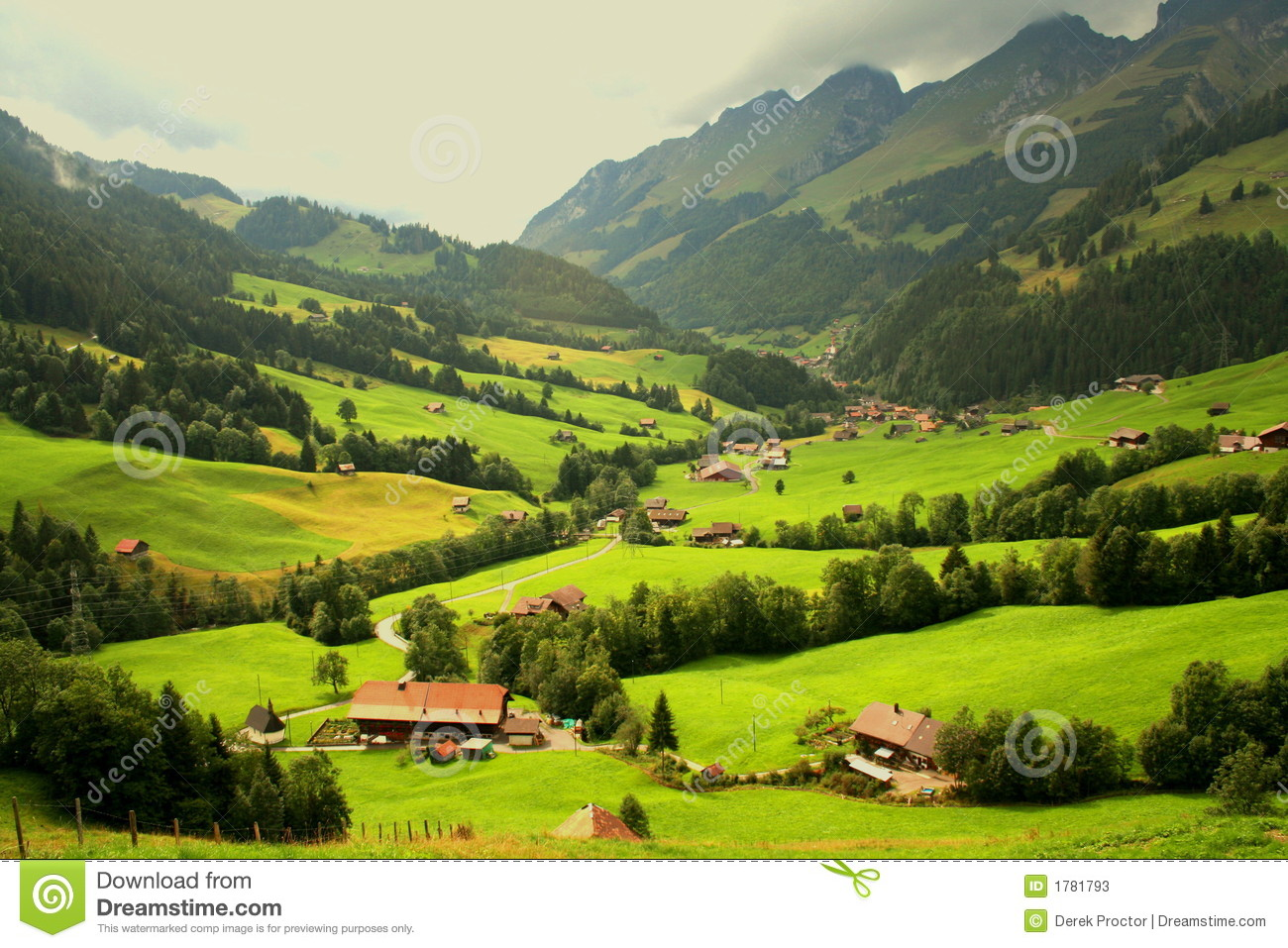 Swiss mountain chalets stock photos image 1781793 for Chalet a la montagne avec piscine