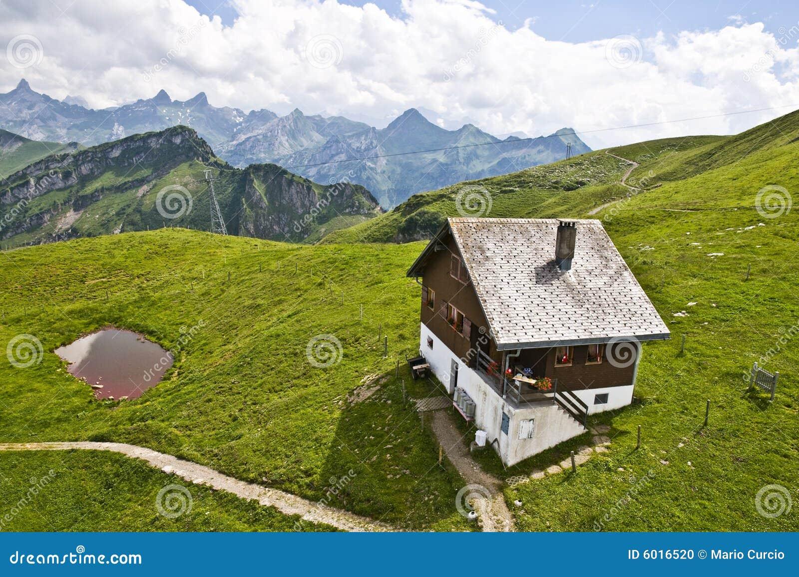 Swiss Mountain House swiss mountain house stock photo - image: 6016520