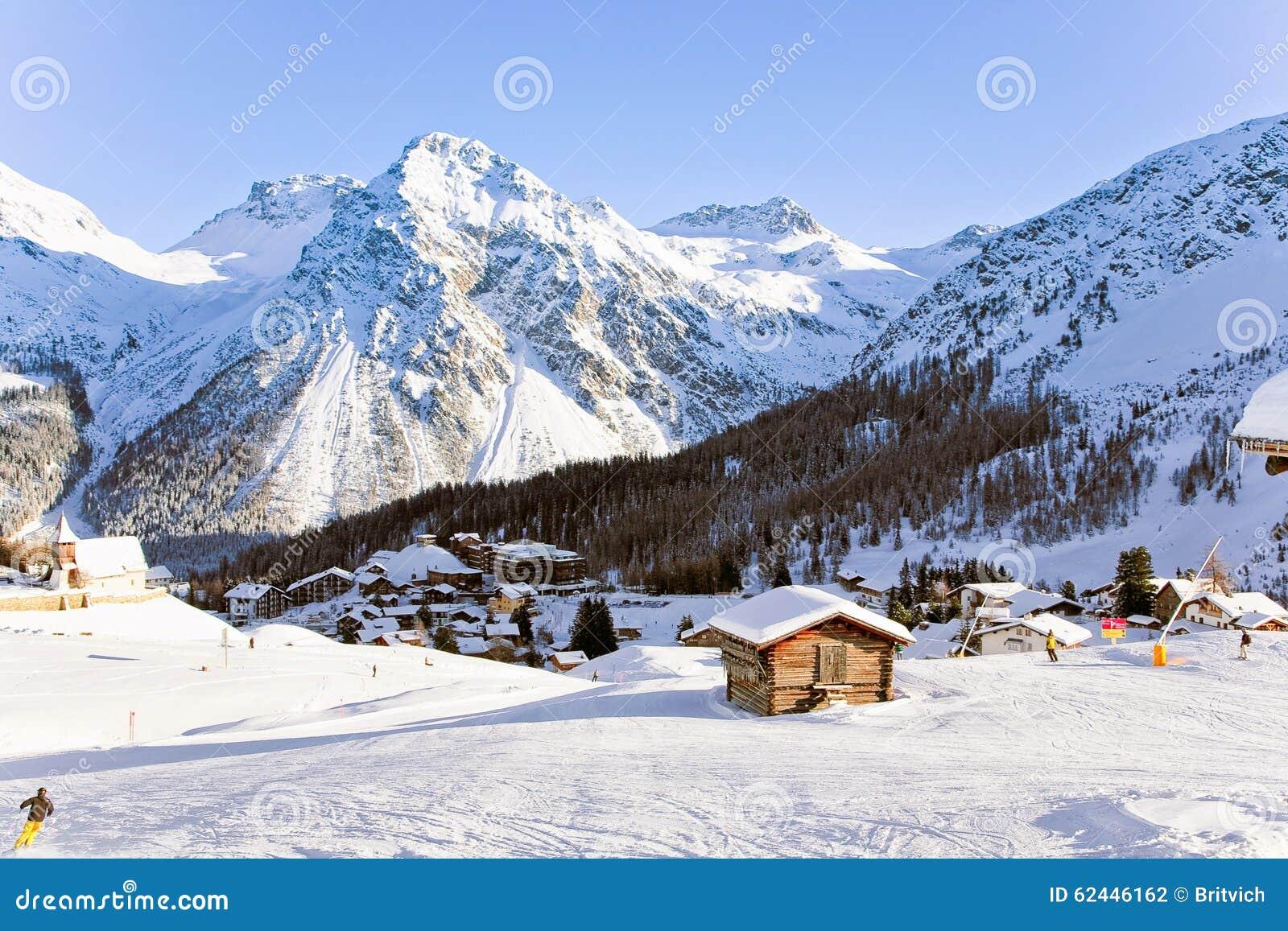 Swiss resort in Alps