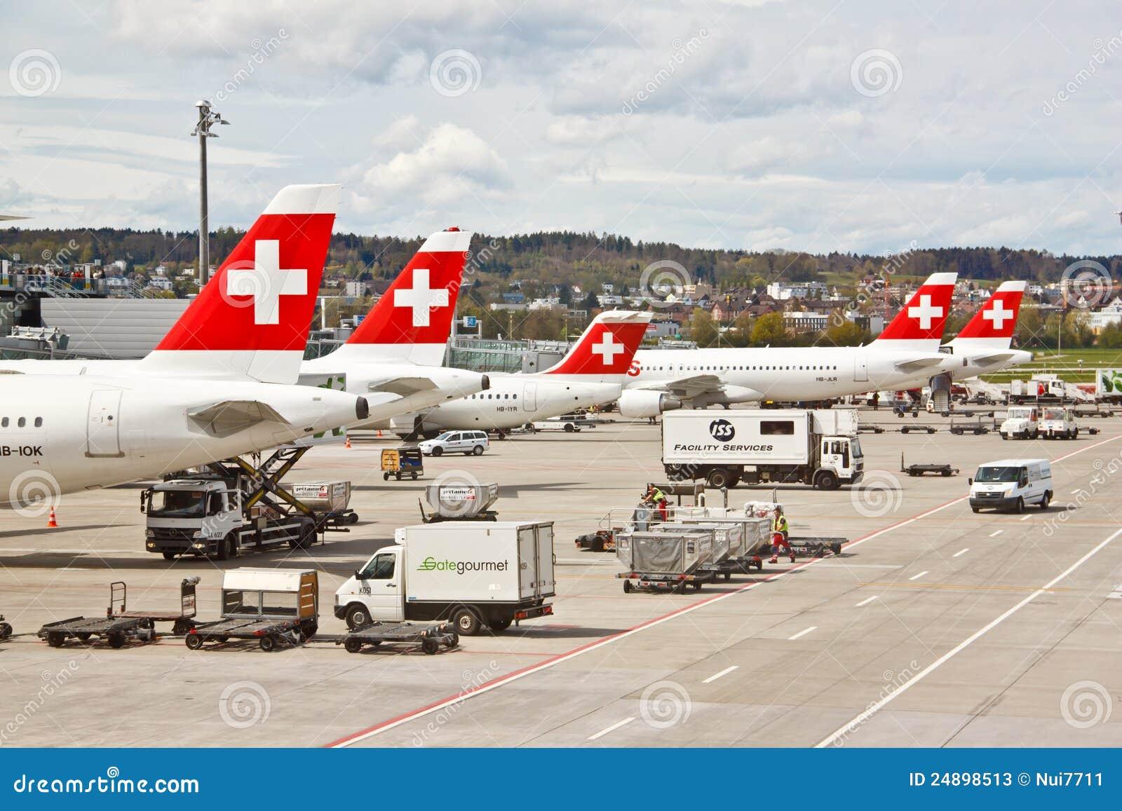 SWISS s air crafts at Zurich airport 1