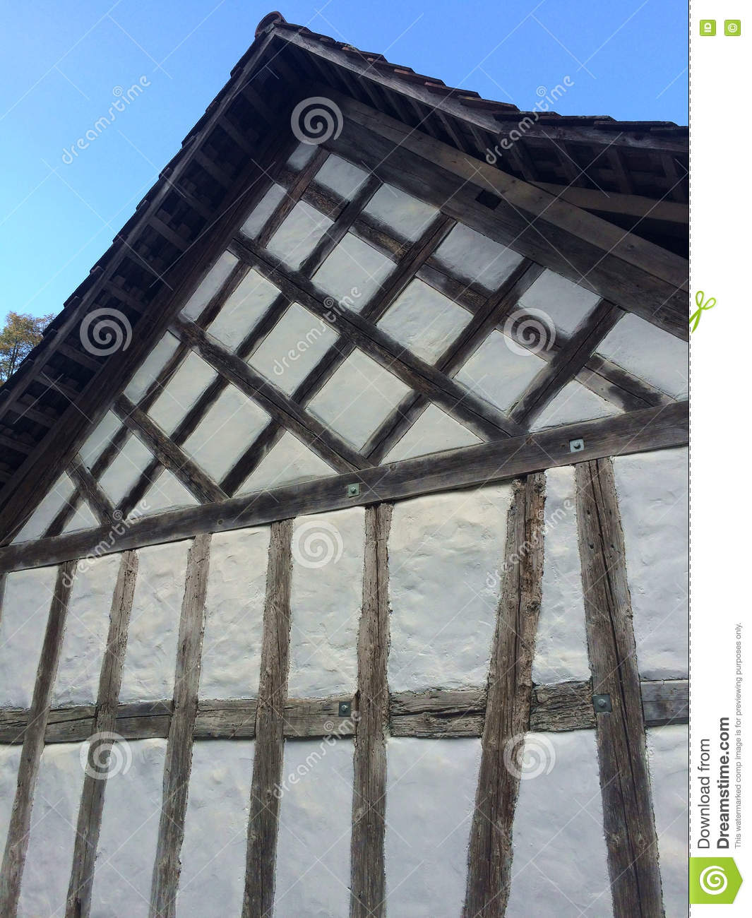 Swiss Traditional House Wall Stock Photo Image Of Museum