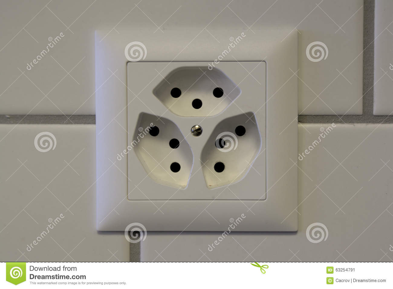 Swiss Wall Outlet Stock Image Image Of Voltage Plug