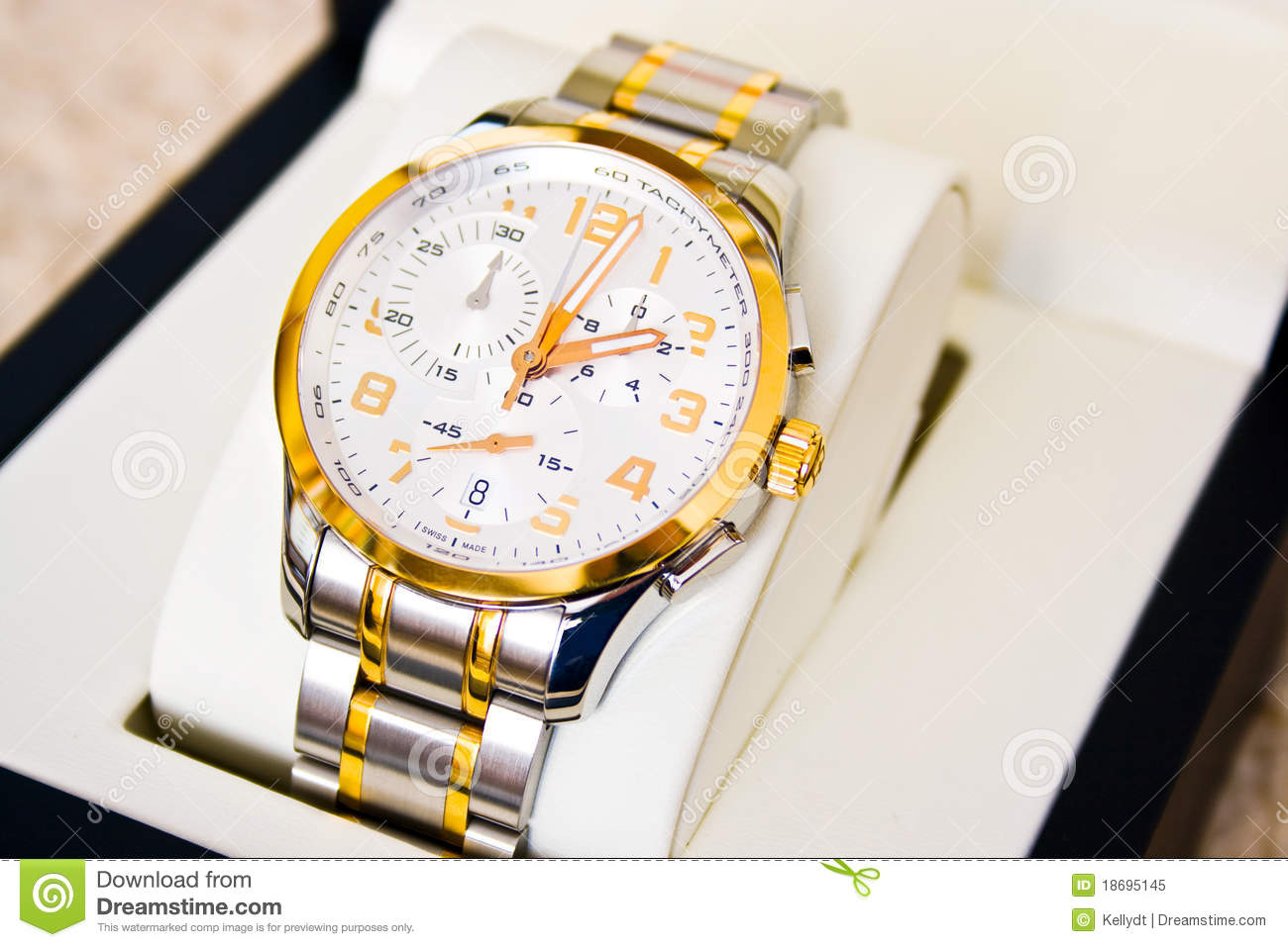 Swiss Watch - Gift Royalty Free Stock Photo - Image: 18695145