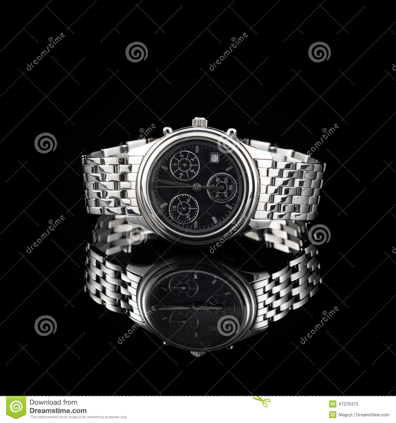 Swiss Watches On Black Background Stock Photo - Image ...