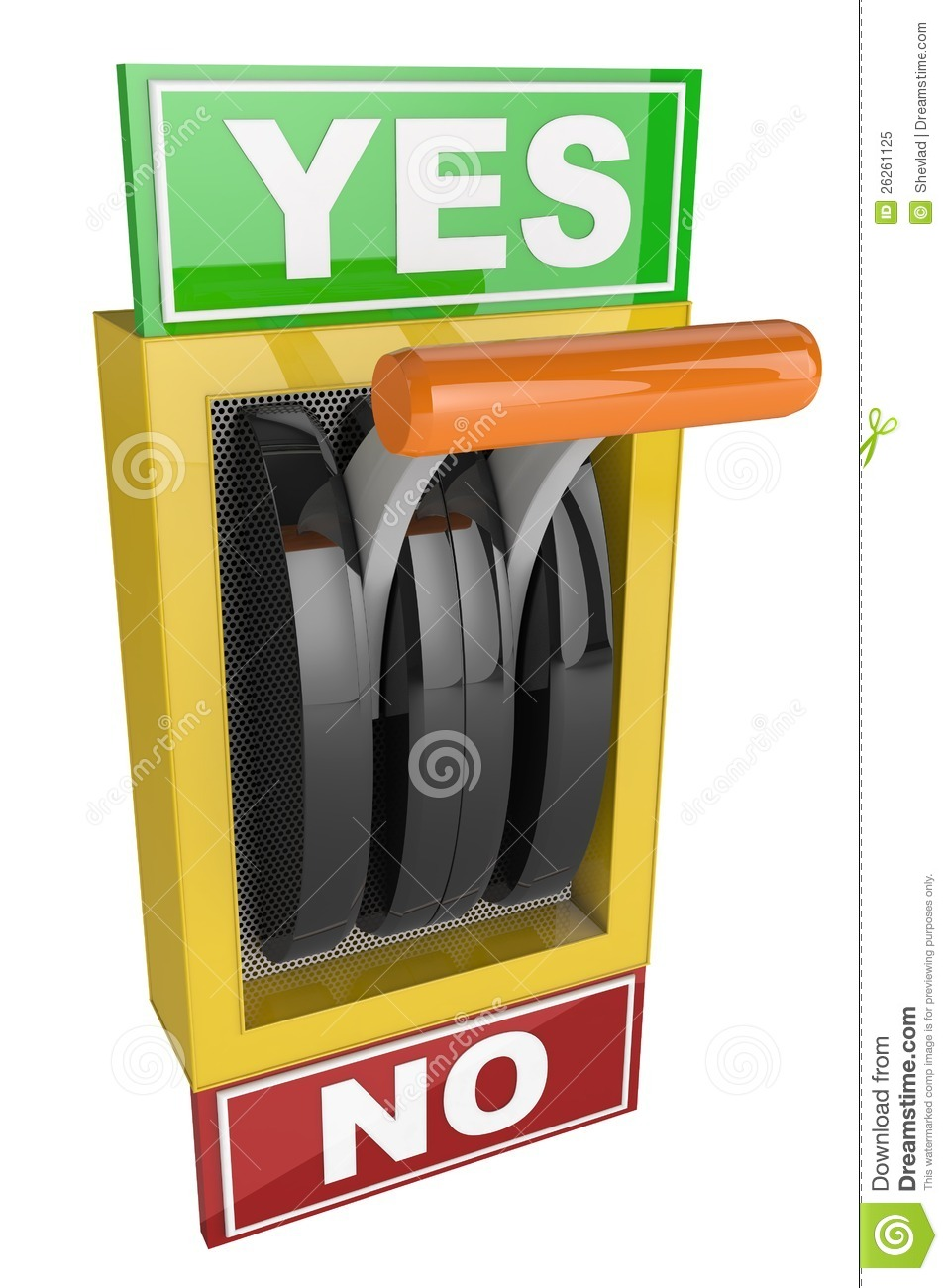 Yes No Goddess Tarot: Switch Lever Yes And No Royalty Free Stock Photo