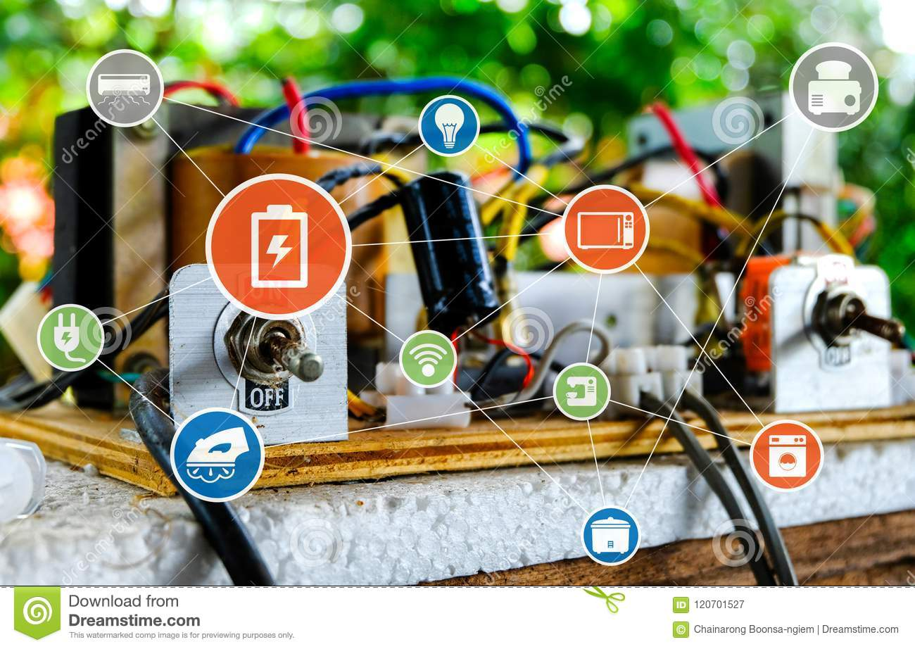 Switch On Off Of Electric Circuits Stock Image Digital Circuit