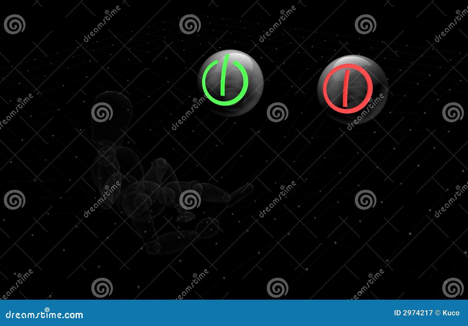 Switch On Switch Off Stock Illustration Illustration Of Symbol