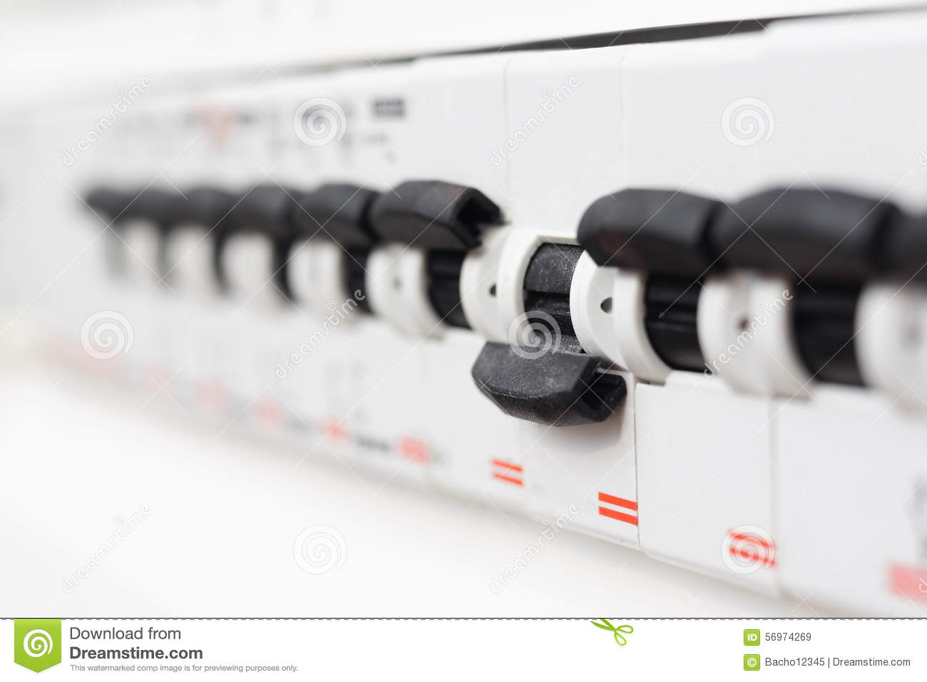 Fuse Box Switched Off : Switched off fuse in electrical box stock photo image
