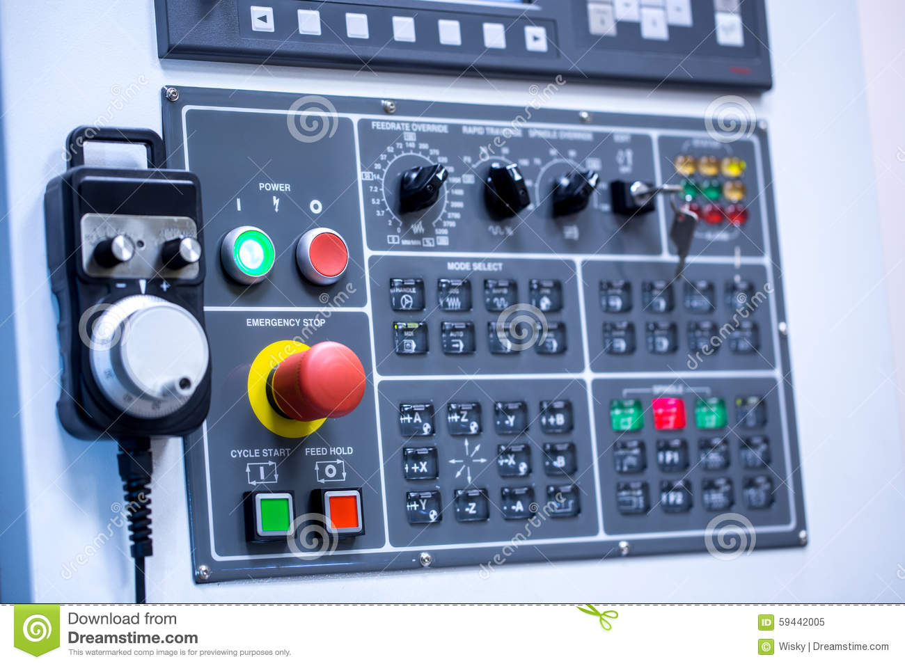 Switches On Control Panel Of Production Machine Stock Image ...