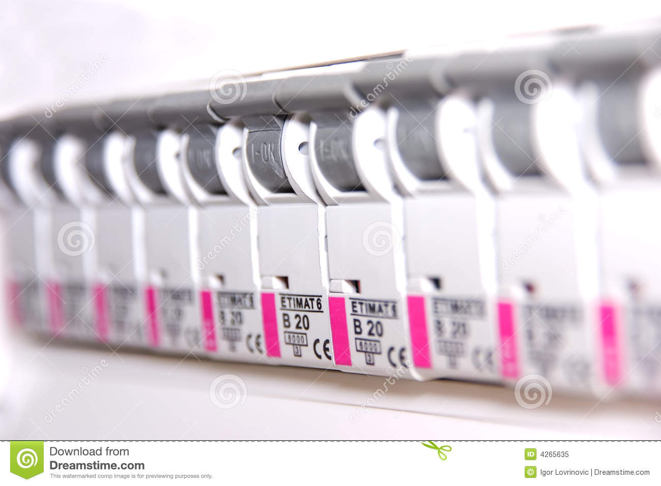 Switches In Fusebox Stock Image Of Circuits Electric 4265635 Fuse Box