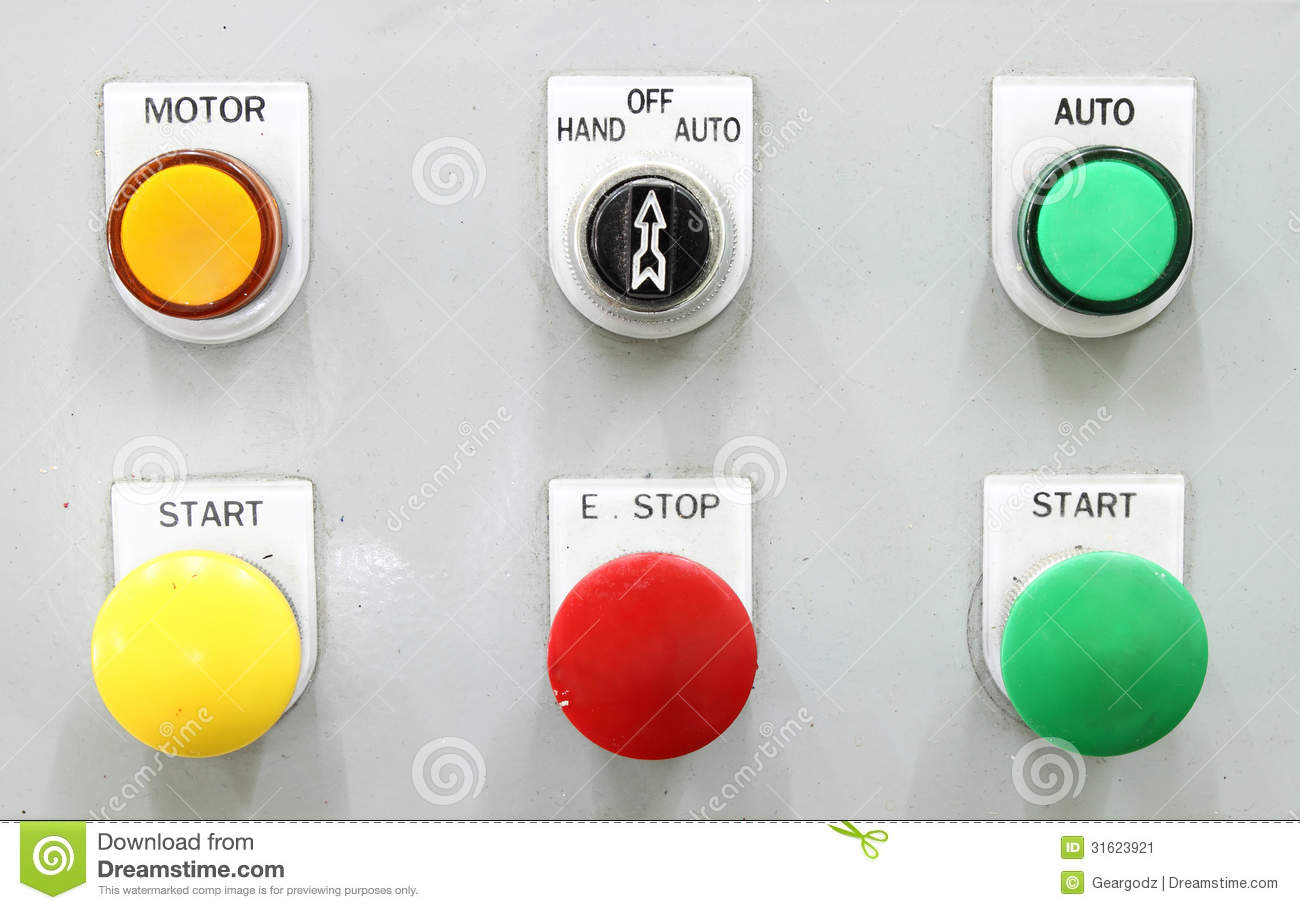 Switching Button Control Panel Stock Image Image Of