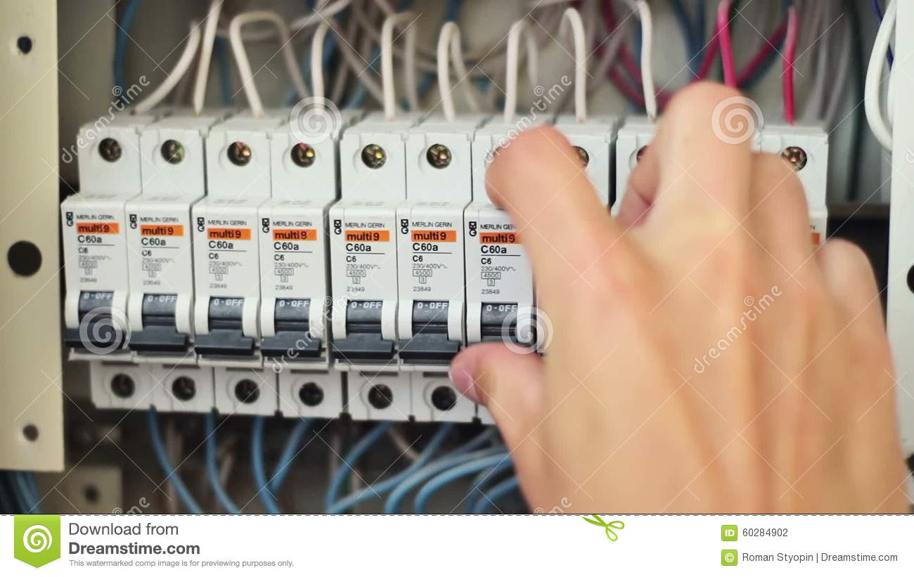 Switching Electric Breaker Box Stock Footage Video Of Distribution Circuit Electrical Panel Fuse Enclosure 60284902