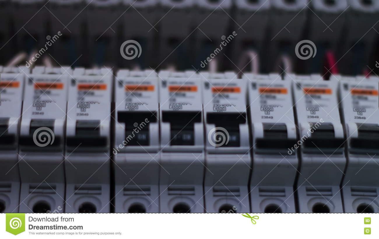 Switching Electric Breaker Box Stock Footage - Video of fuse, equipment:  78715936