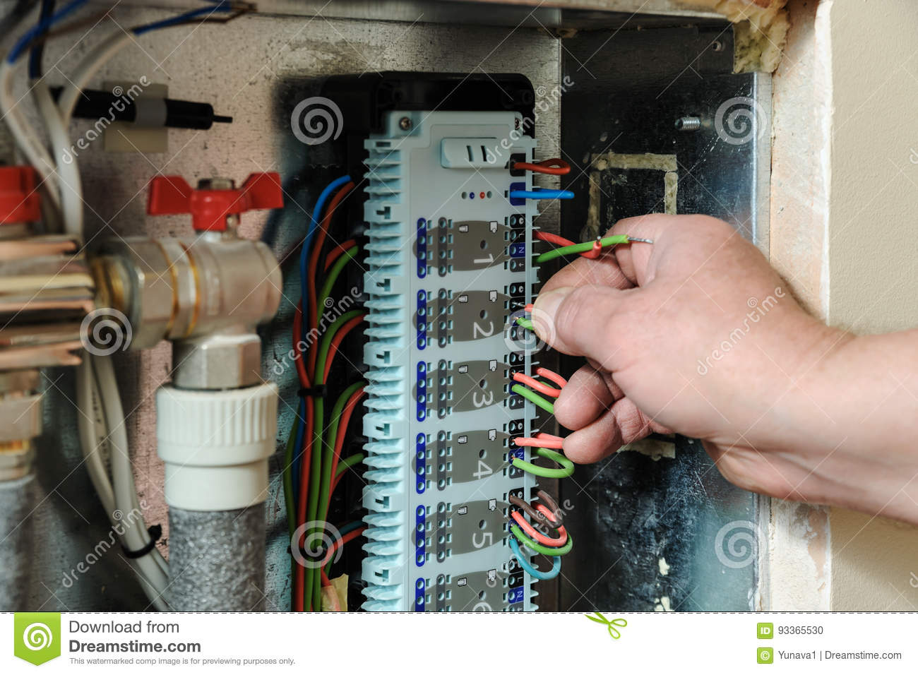 Switching Signal Wires In The Homes Heating System Control Stock Wiring Home