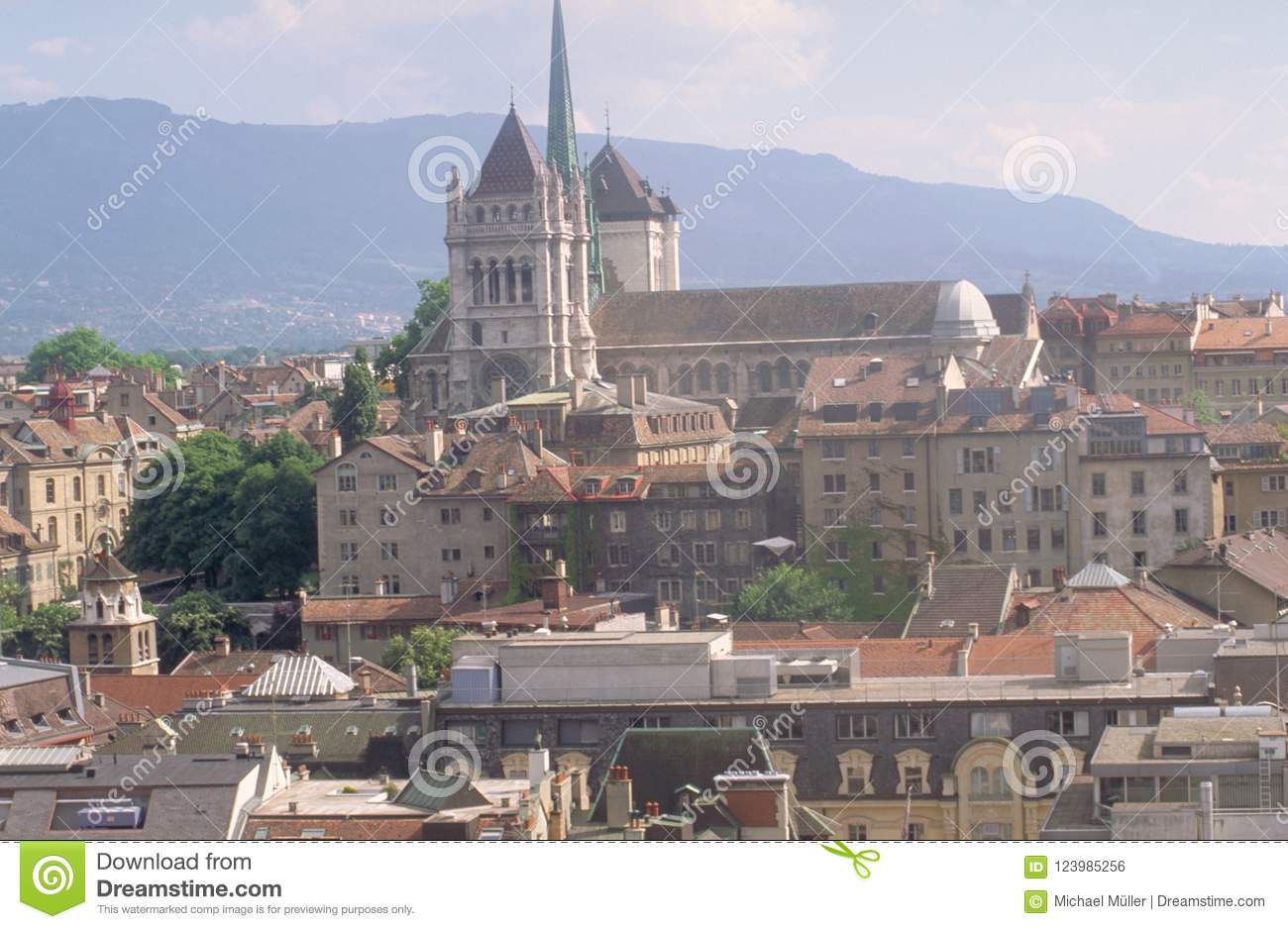 Switzerland: Geneva-City and the cathedral