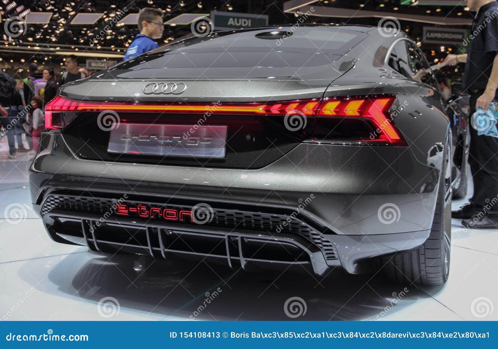 Switzerland; Geneva; March 10, 2019; Audi E-tron GT, Rear ...