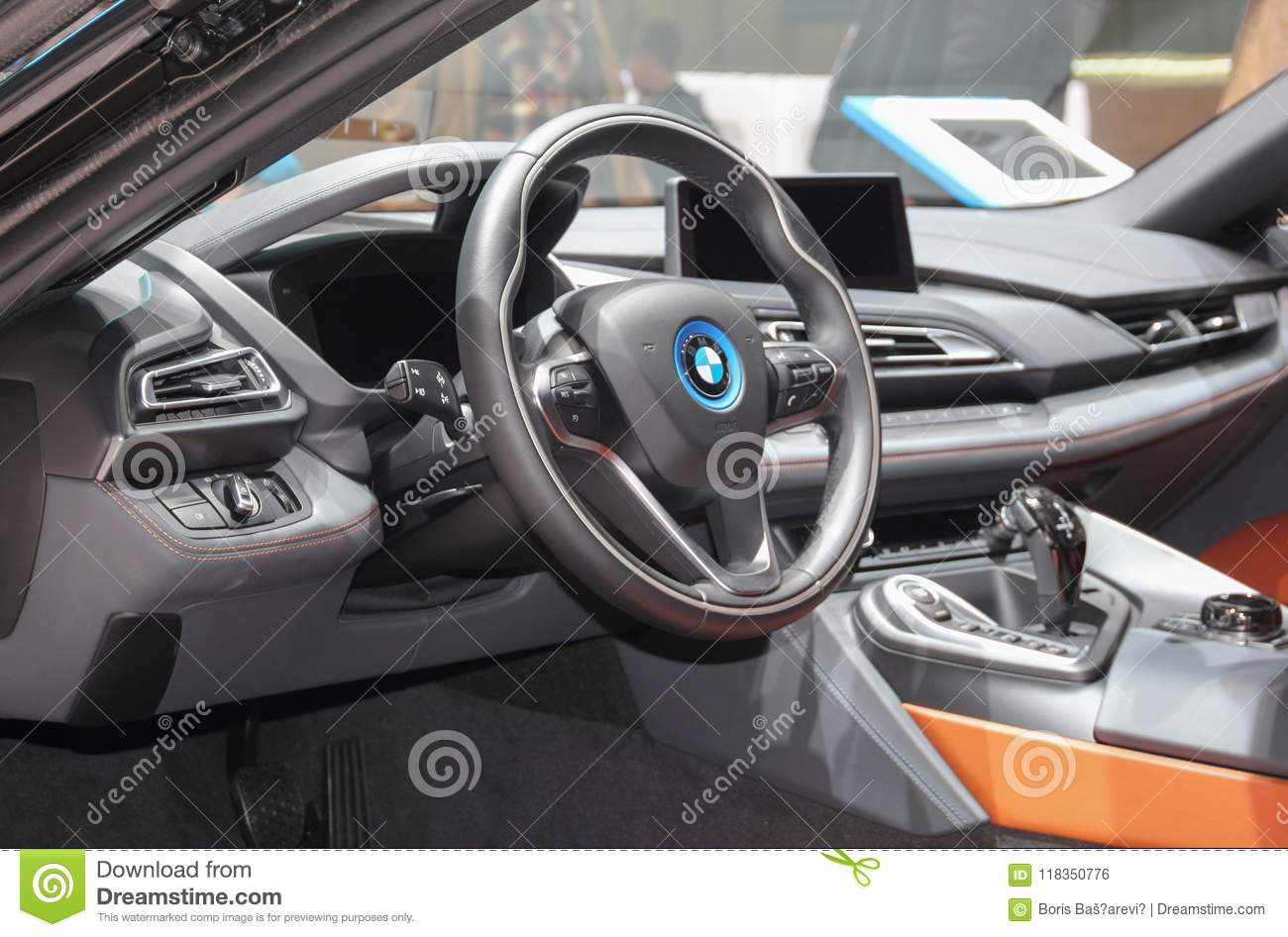 Switzerland Geneva March 8 2018 Bmw I8 Coupe Interior The 8