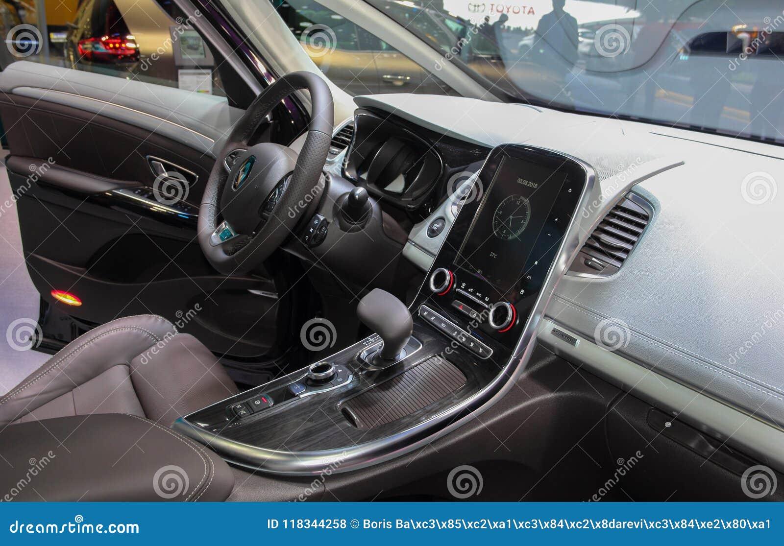 Switzerland; Geneva; March 8, 2018; Renault Espace Interior; The ...