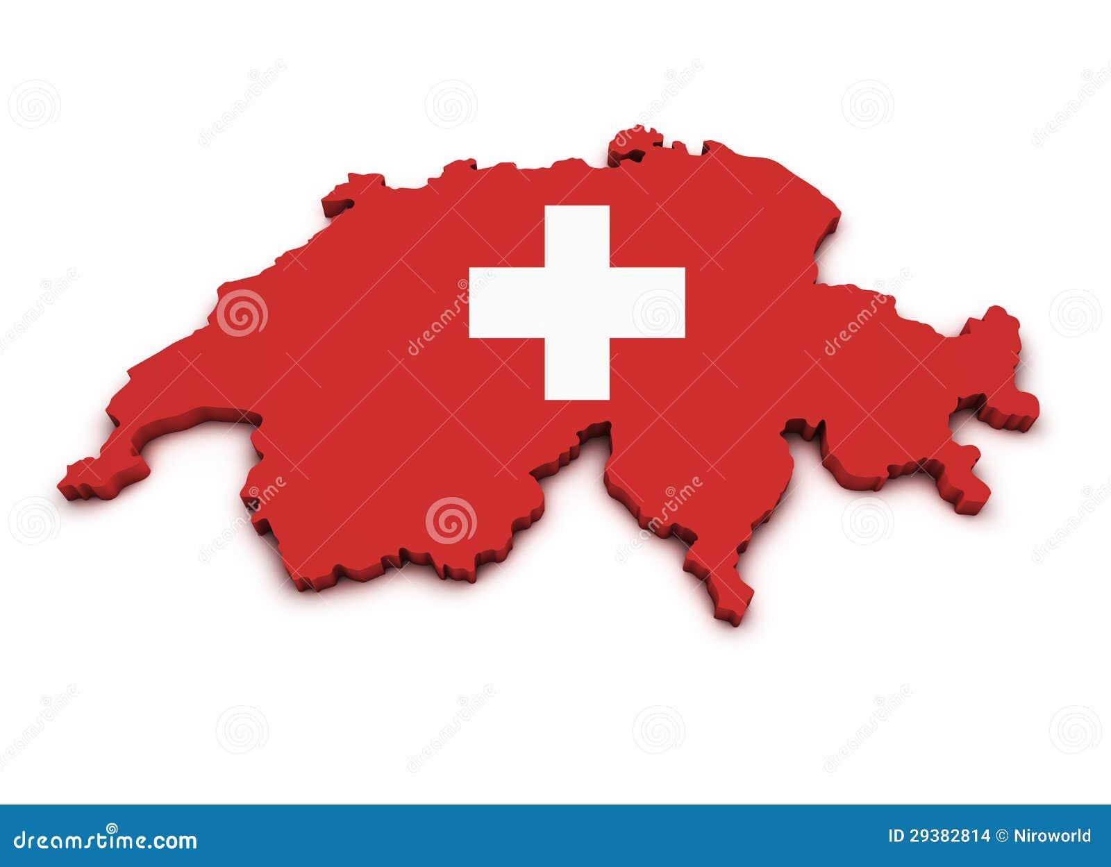 Switzerland Icon Map Shape
