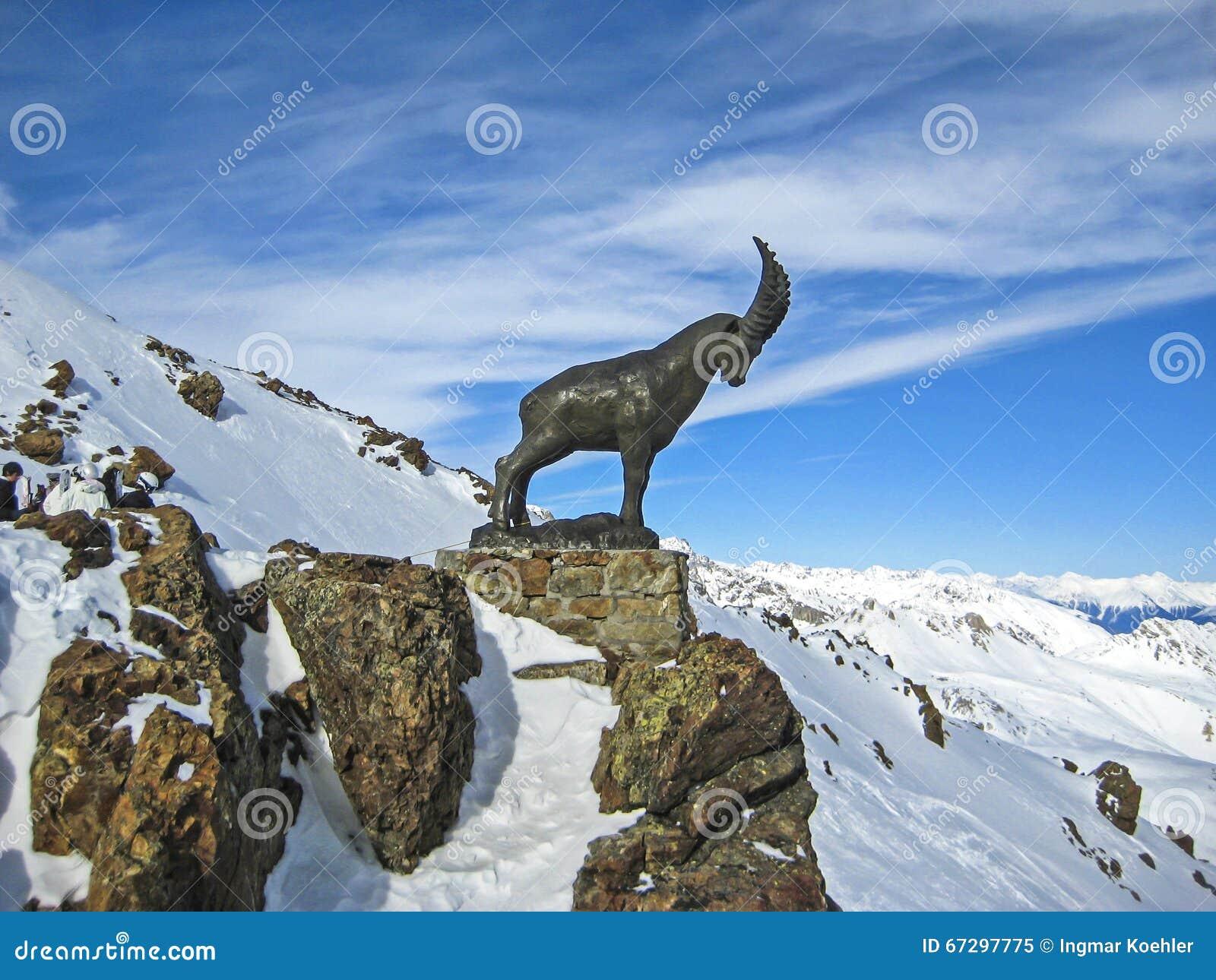 Switzerland Mountain Top Capricorn Symbol.